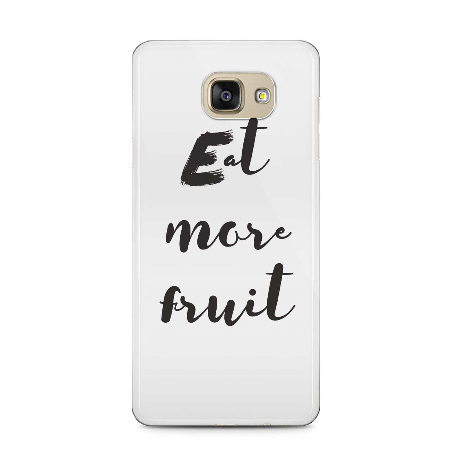 Eat More Fruit Samsung Galaxy A5 2016 Case on gold phone