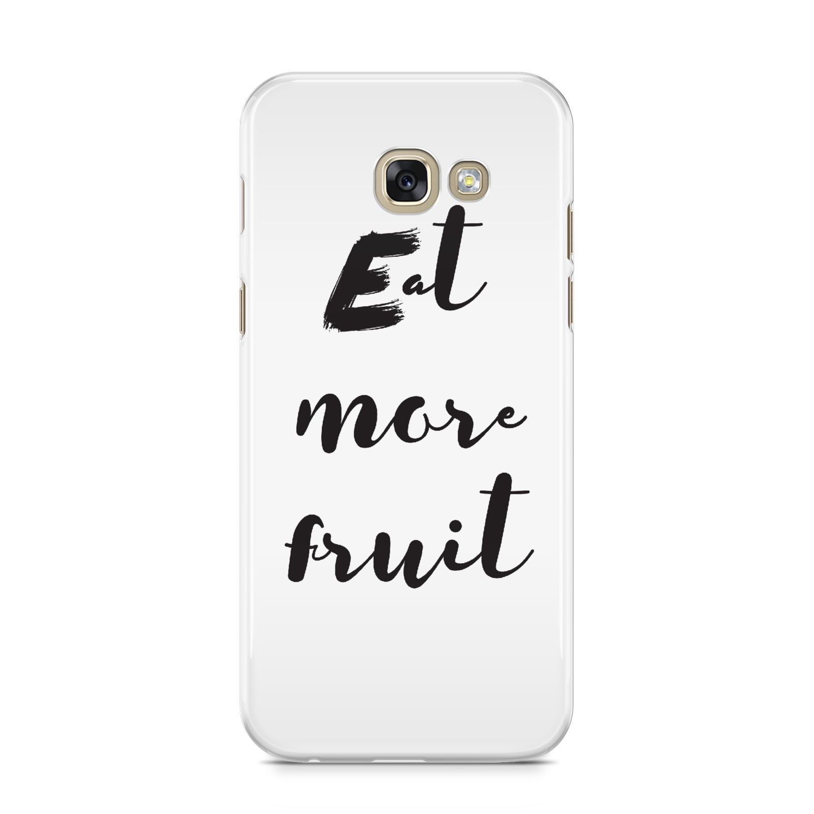 Eat More Fruit Samsung Galaxy A5 2017 Case on gold phone