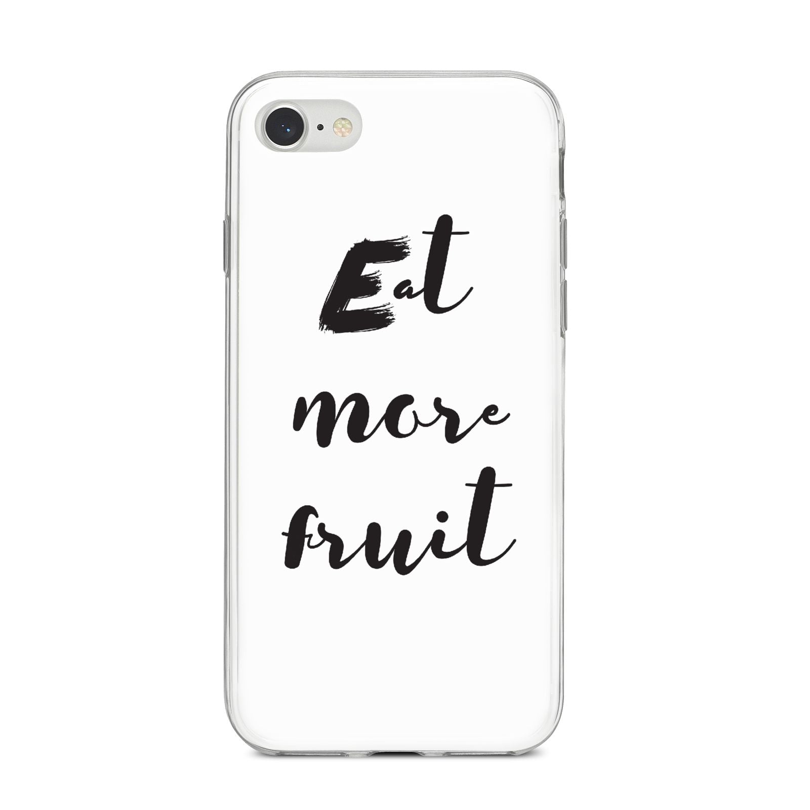 Eat More Fruit iPhone 8 Bumper Case on Silver iPhone