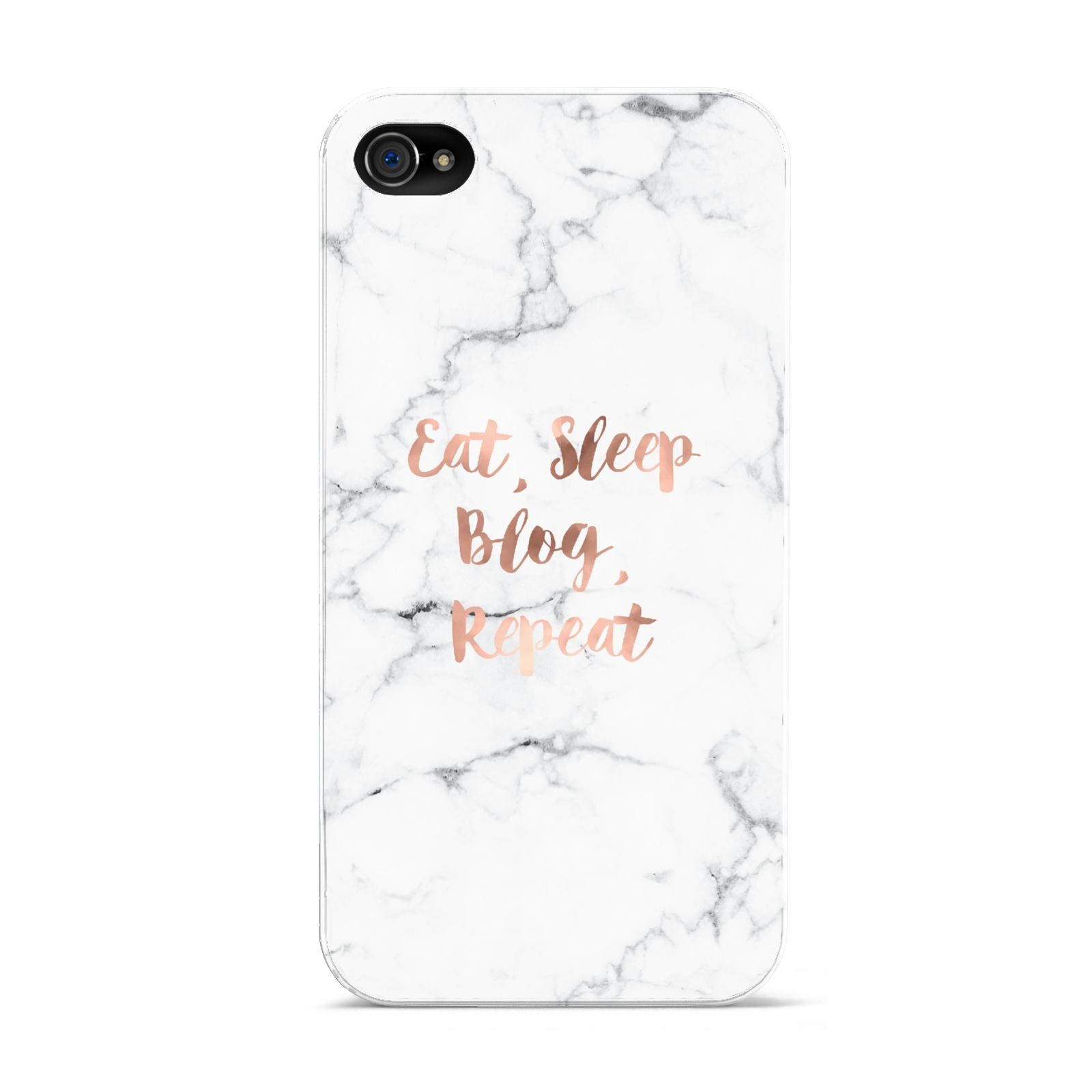 Eat Sleep Blog Repeat Marble Effect Apple iPhone 4s Case