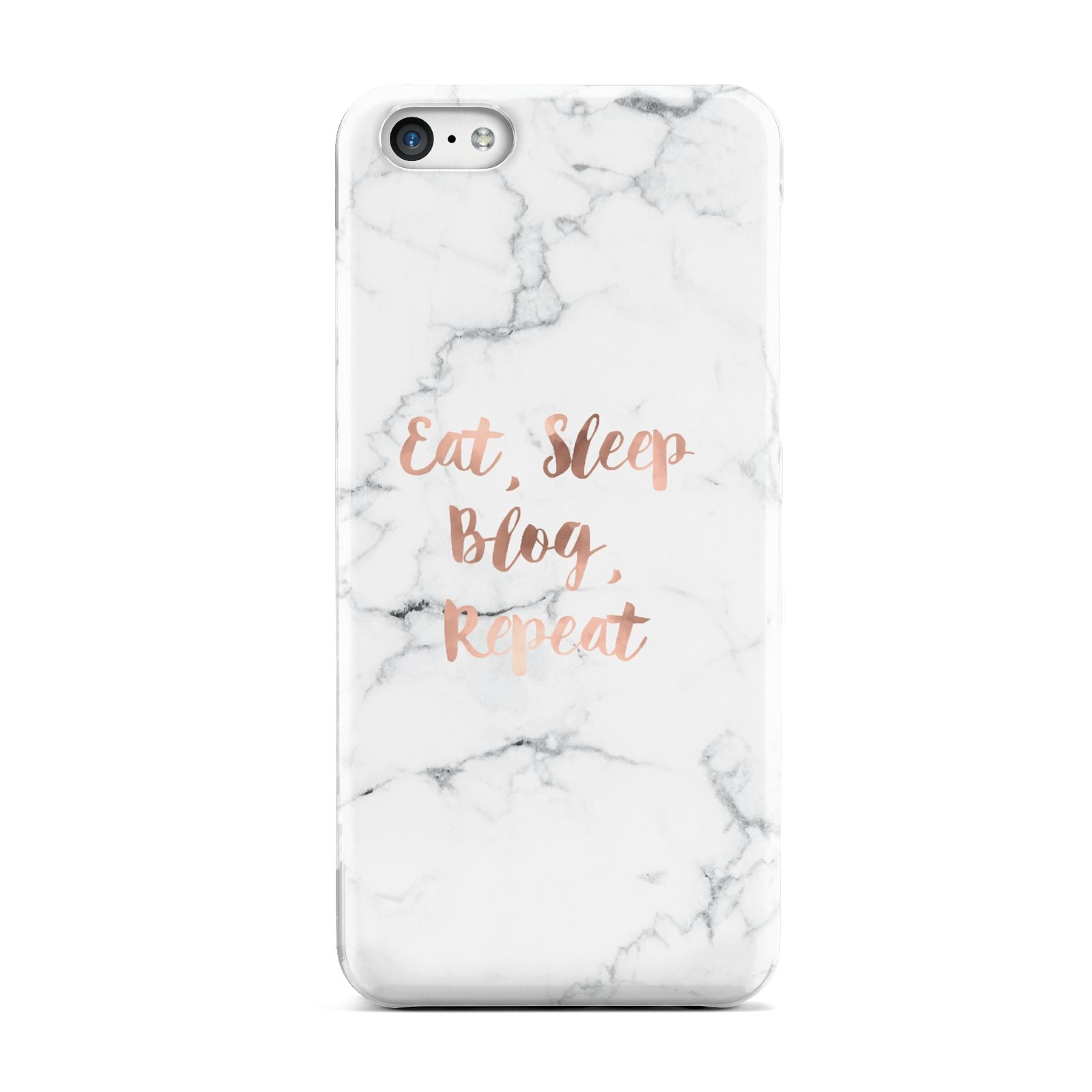 Eat Sleep Blog Repeat Marble Effect Apple iPhone 5c Case