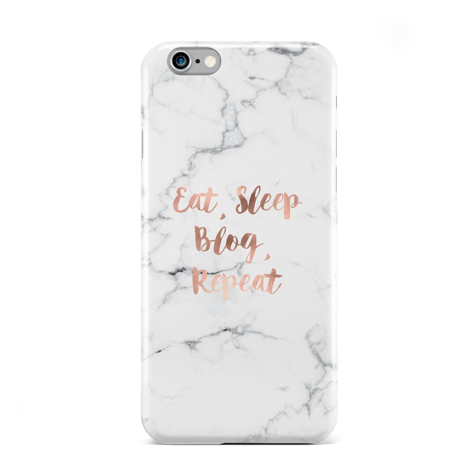 Eat Sleep Blog Repeat Marble Effect Apple iPhone 6 Case