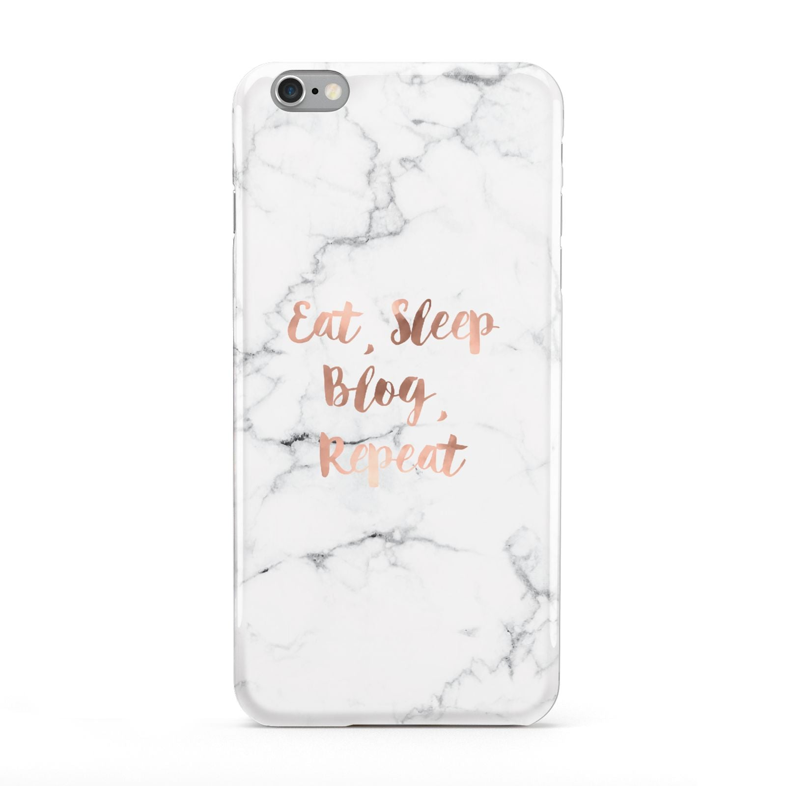 Eat Sleep Blog Repeat Marble Effect Apple iPhone 6 Plus Case