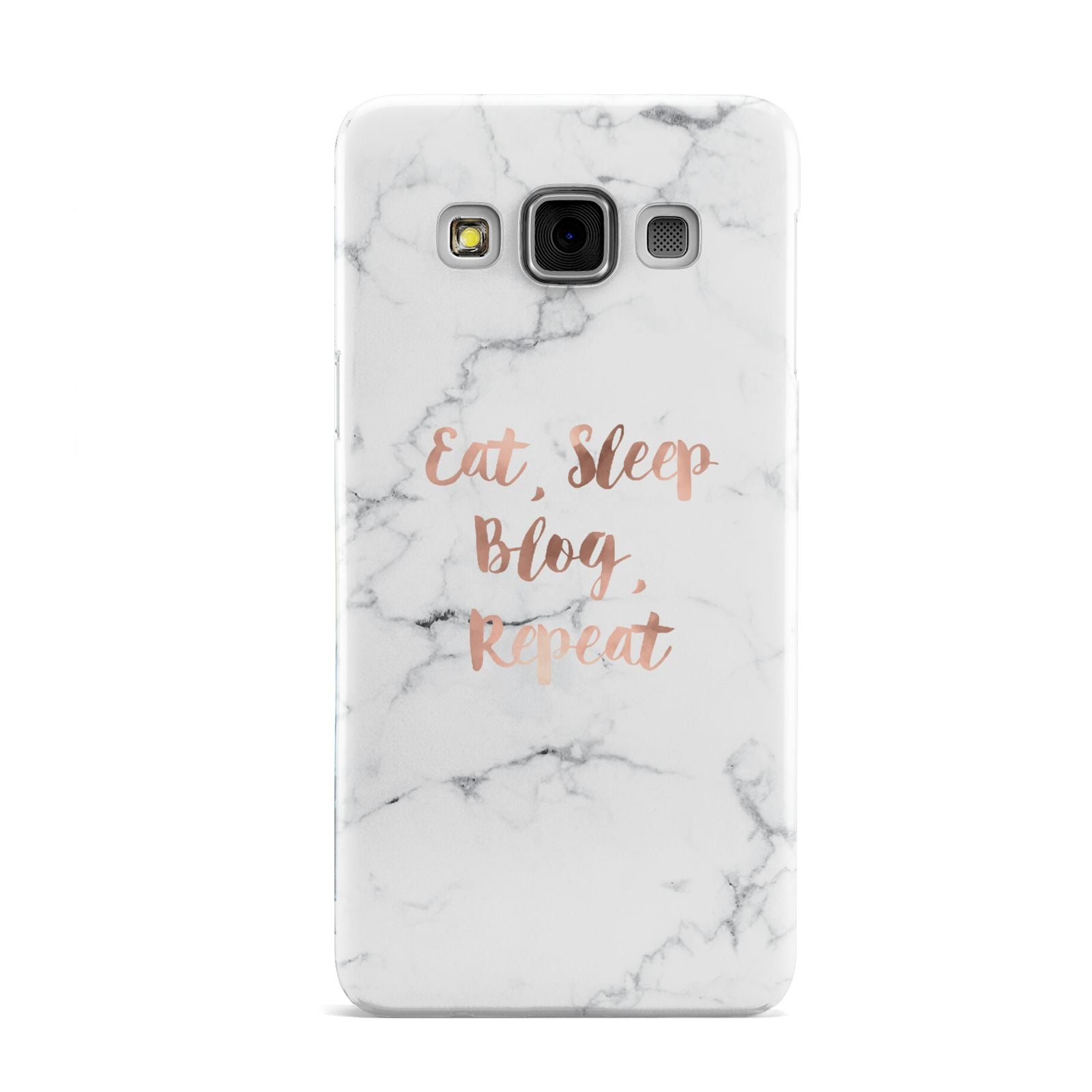 Eat Sleep Blog Repeat Marble Effect Samsung Galaxy A3 Case