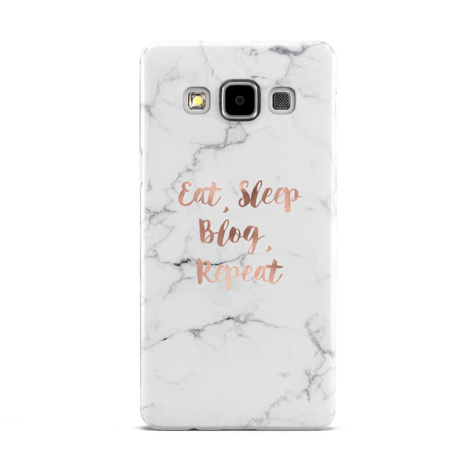 Eat Sleep Blog Repeat Marble Effect Samsung Galaxy A5 Case