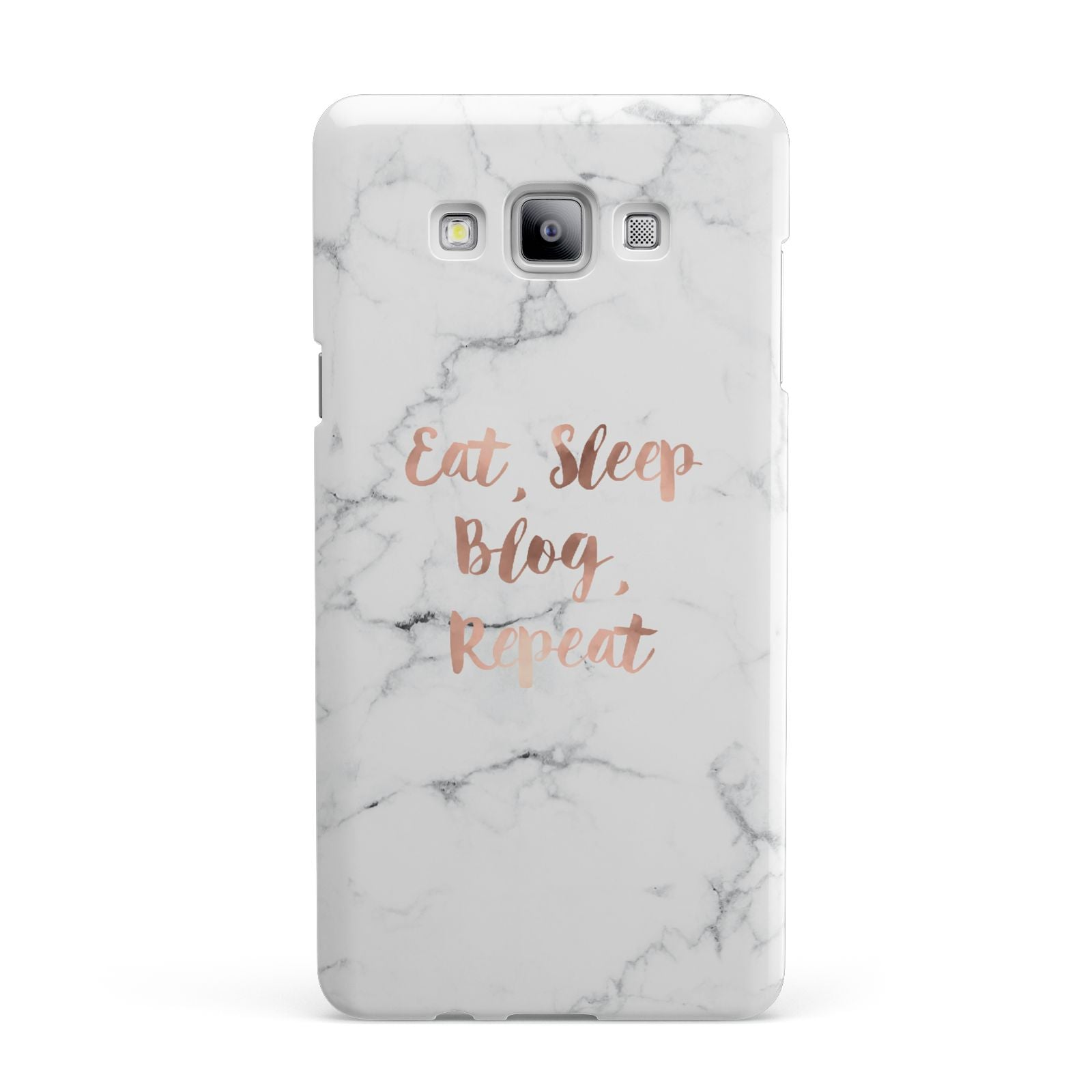 Eat Sleep Blog Repeat Marble Effect Samsung Galaxy A7 2015 Case