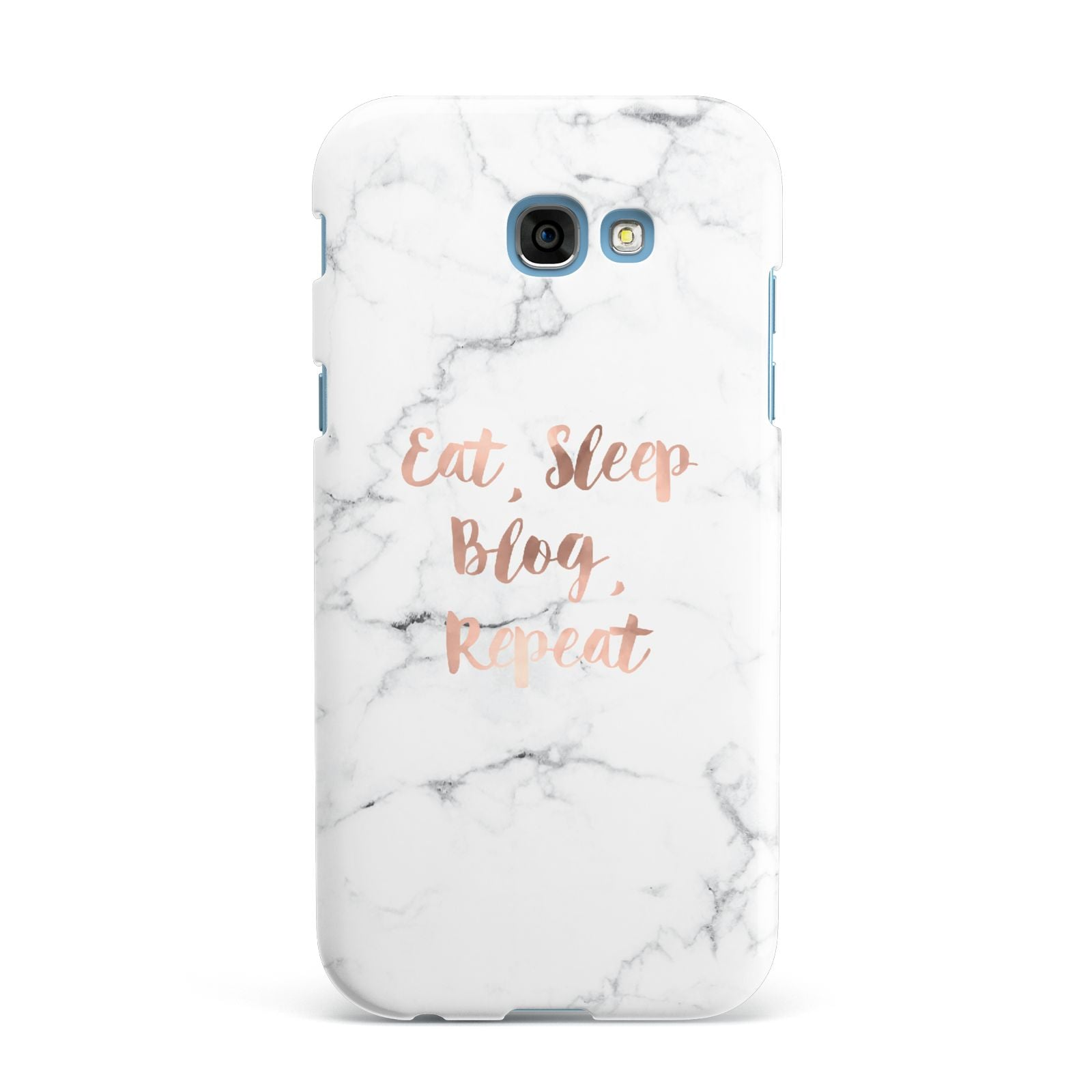 Eat Sleep Blog Repeat Marble Effect Samsung Galaxy A7 2017 Case