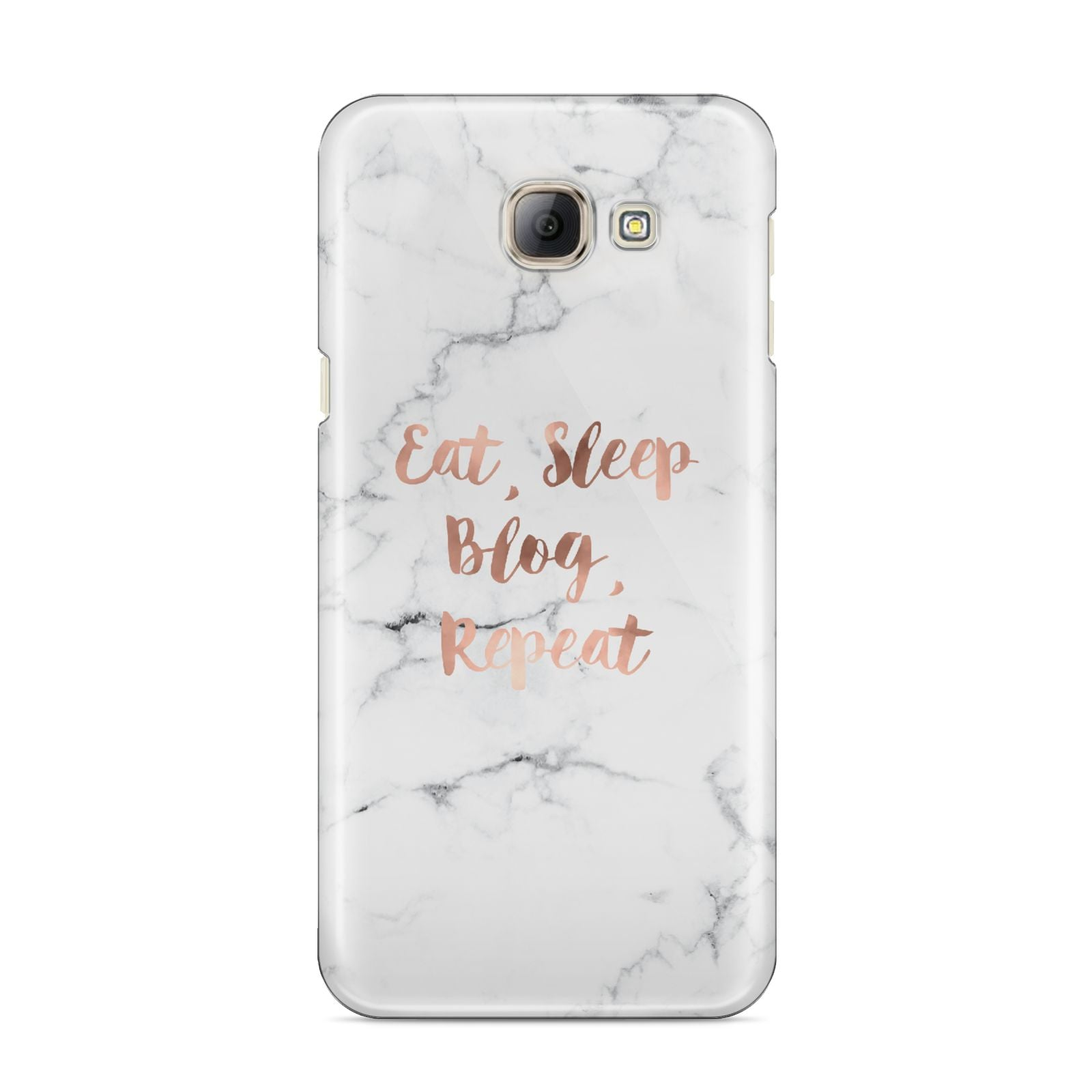 Eat Sleep Blog Repeat Marble Effect Samsung Galaxy A8 2016 Case