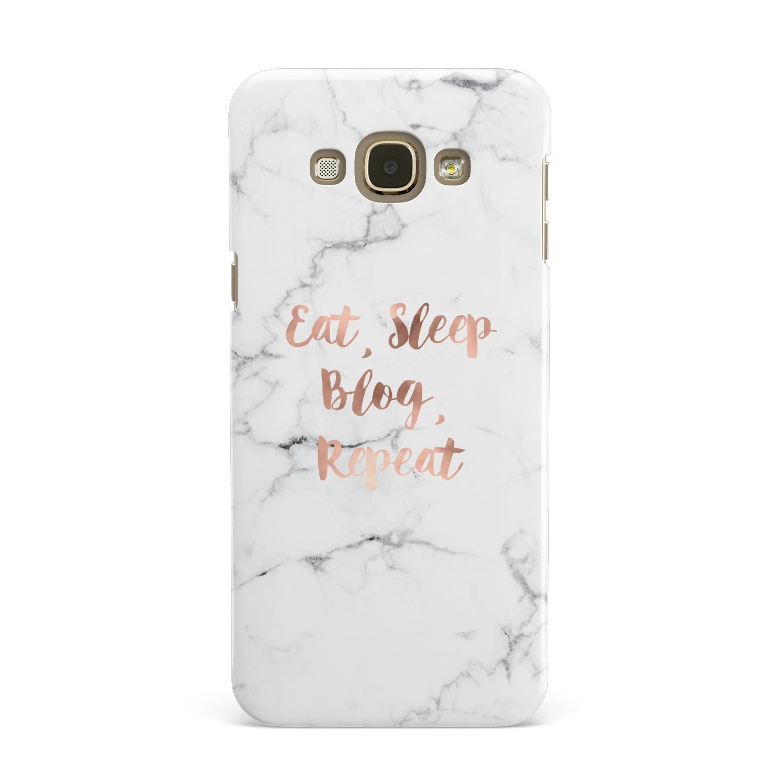Eat Sleep Blog Repeat Marble Effect Samsung Galaxy A8 Case