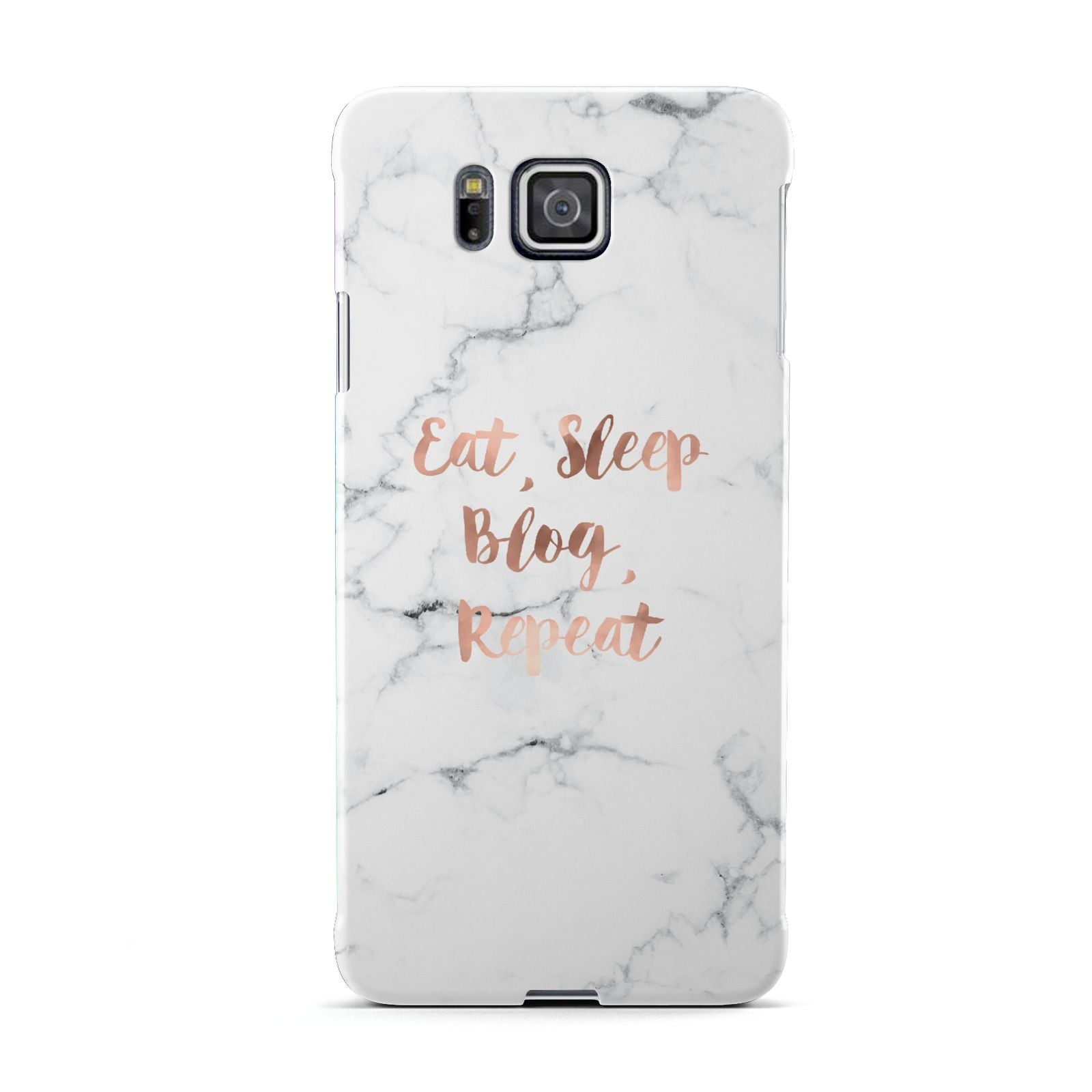 Eat Sleep Blog Repeat Marble Effect Samsung Galaxy Alpha Case