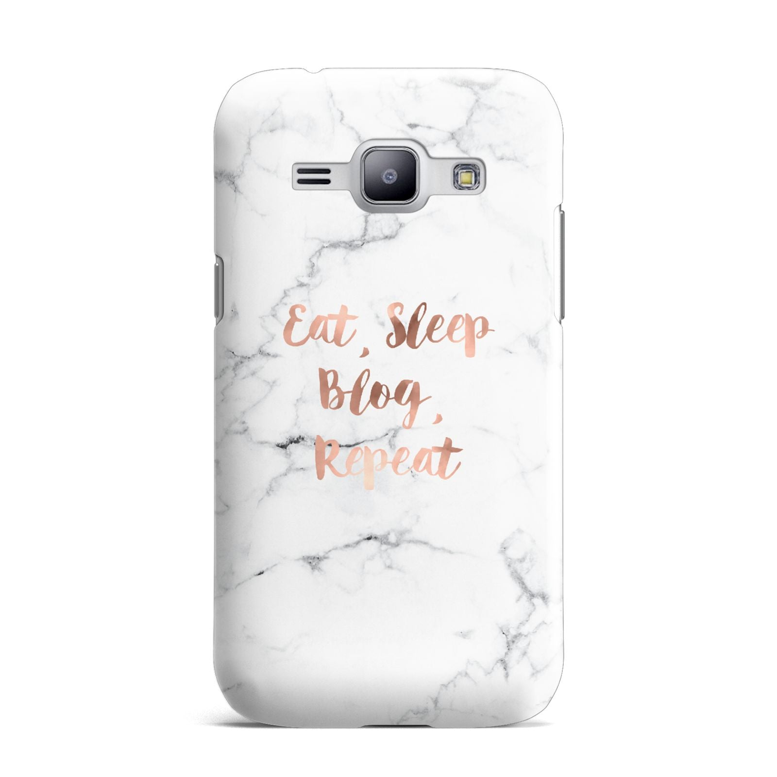 Eat Sleep Blog Repeat Marble Effect Samsung Galaxy J1 2015 Case