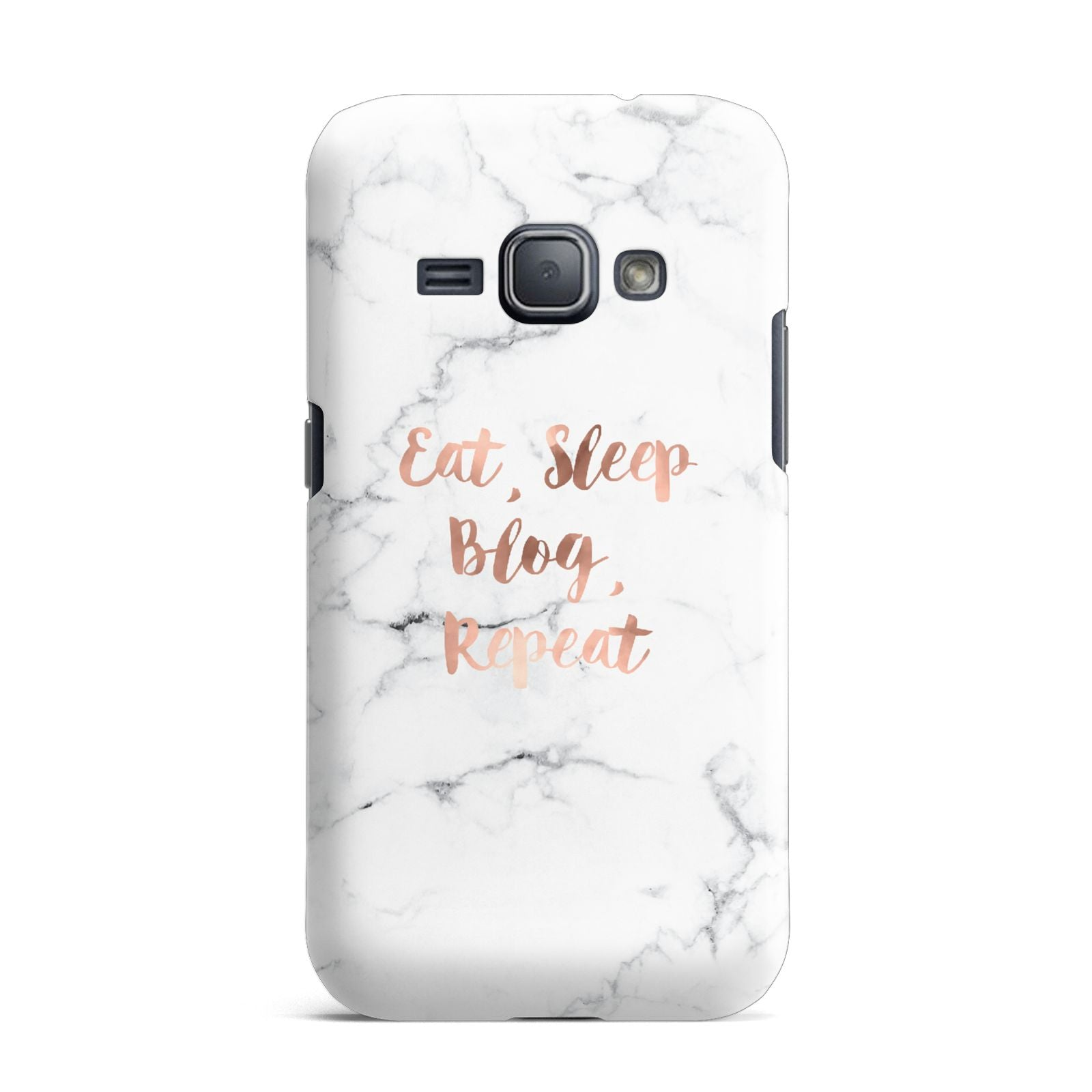 Eat Sleep Blog Repeat Marble Effect Samsung Galaxy J1 2016 Case