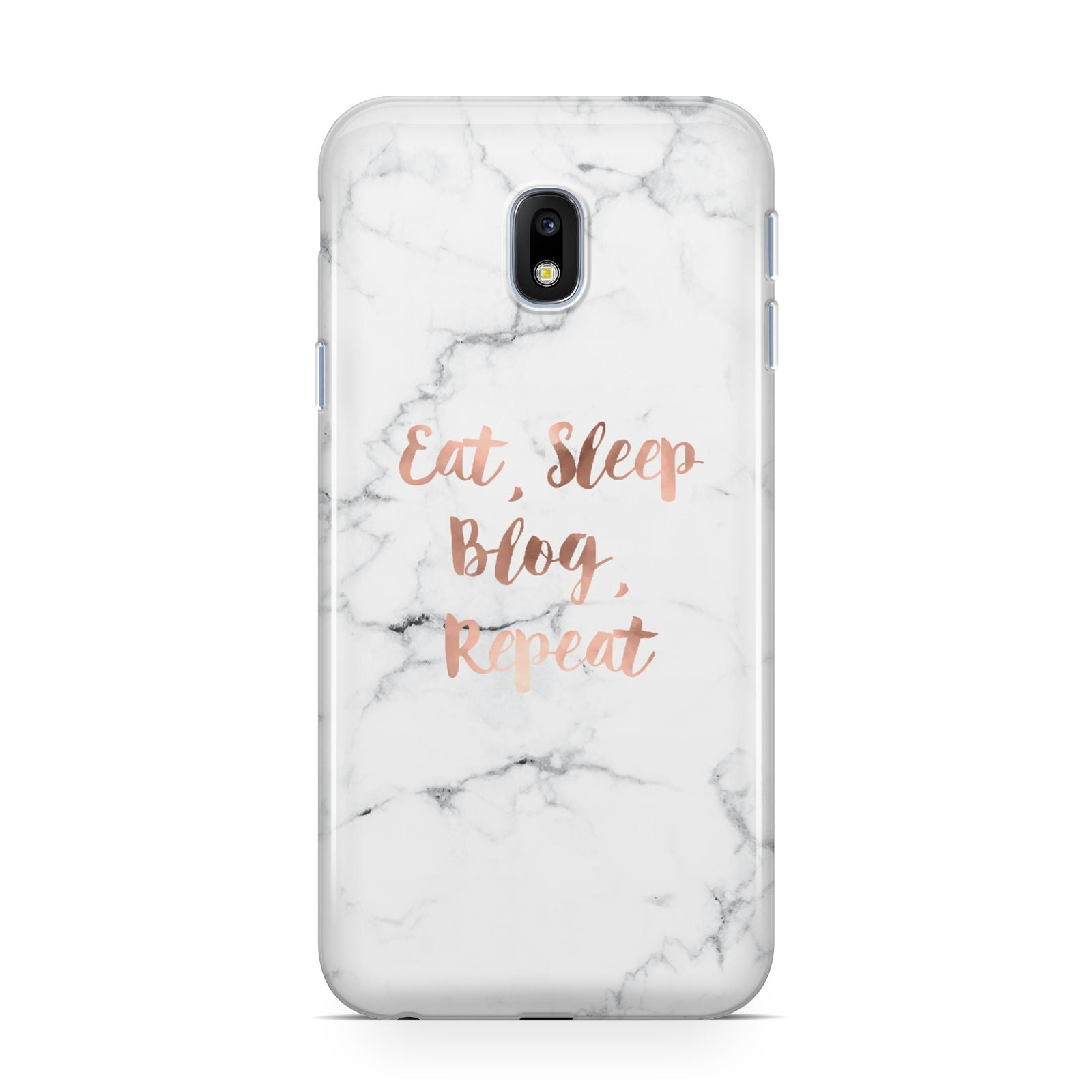 Eat Sleep Blog Repeat Marble Effect Samsung Galaxy J3 2017 Case