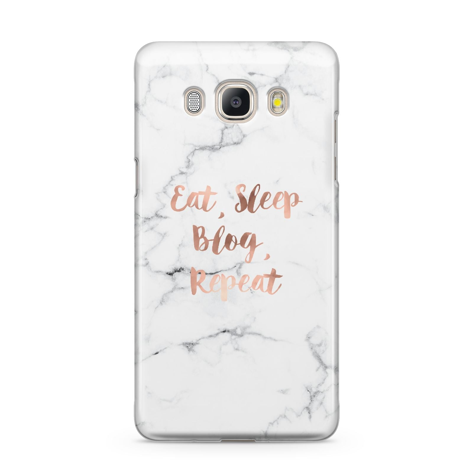 Eat Sleep Blog Repeat Marble Effect Samsung Galaxy J5 2016 Case