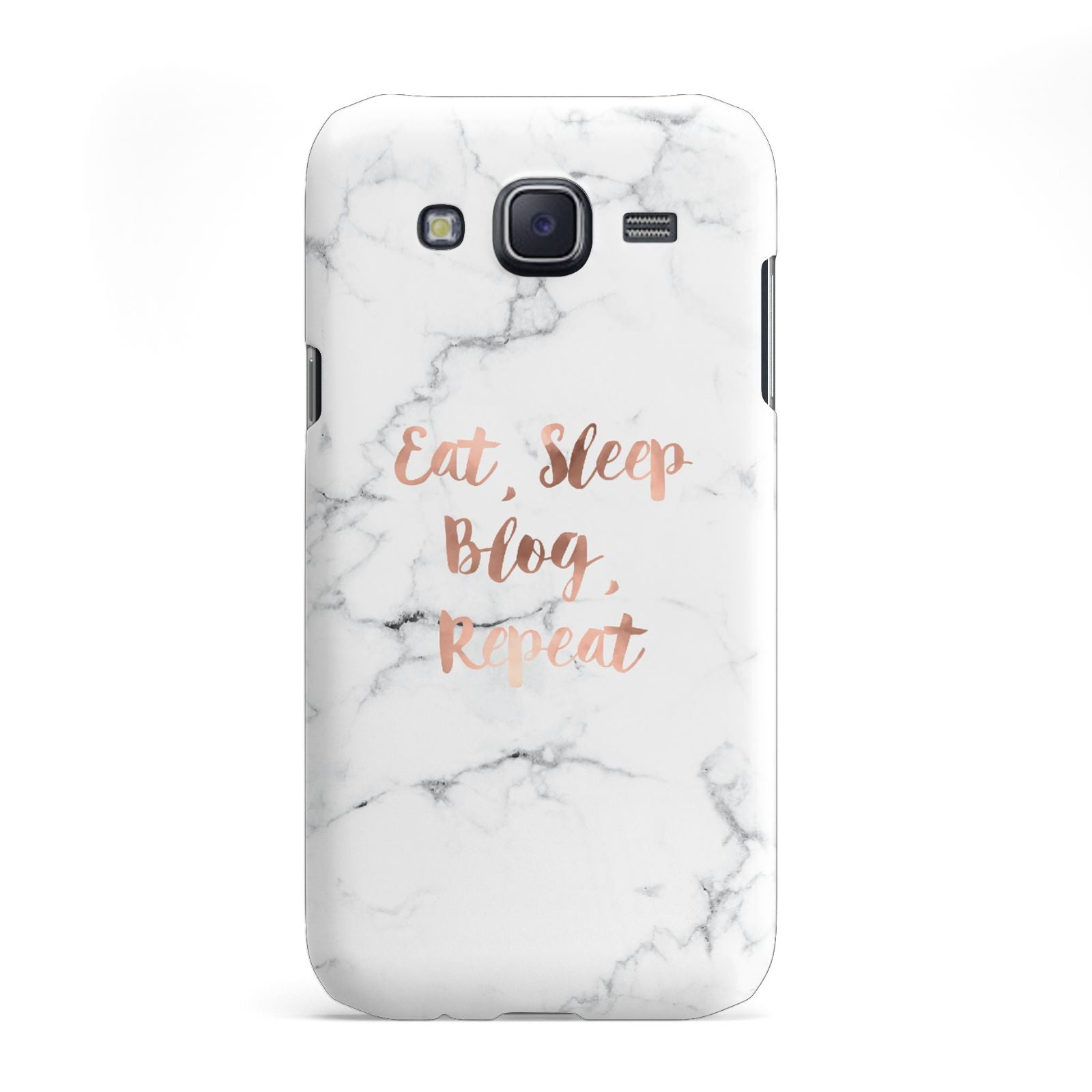 Eat Sleep Blog Repeat Marble Effect Samsung Galaxy J5 Case