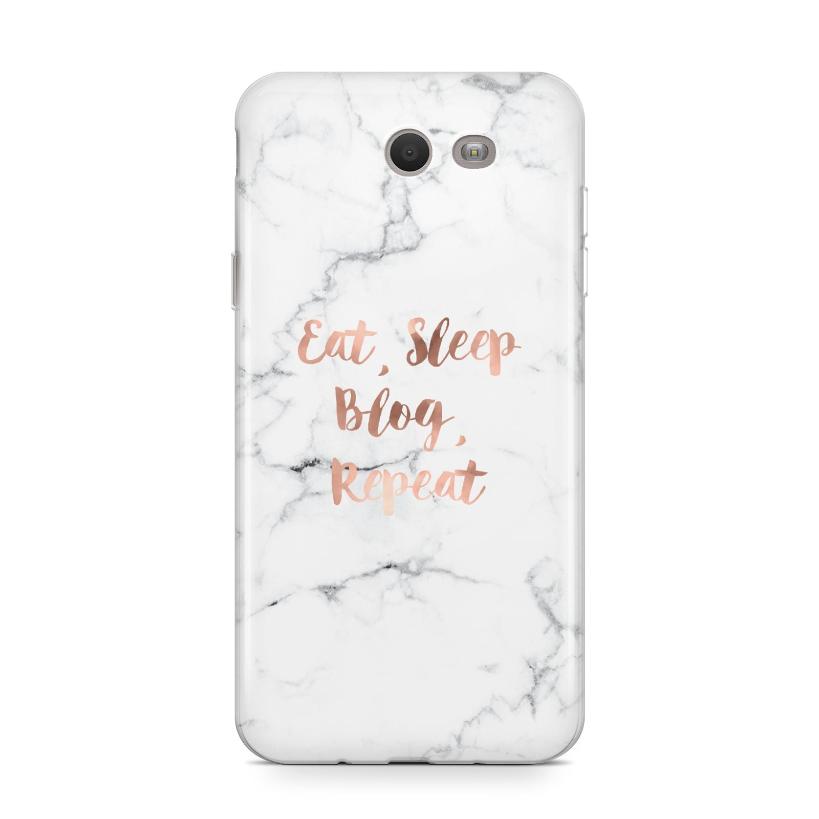 Eat Sleep Blog Repeat Marble Effect Samsung Galaxy J7 2017 Case