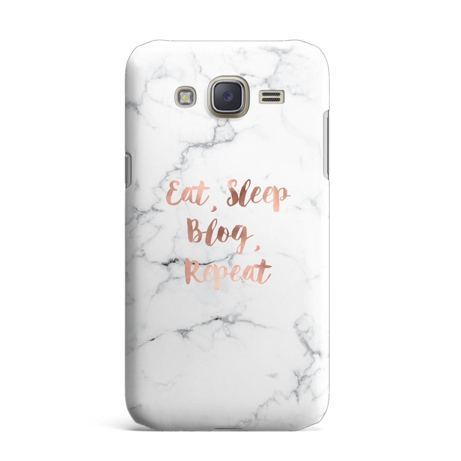 Eat Sleep Blog Repeat Marble Effect Samsung Galaxy J7 Case