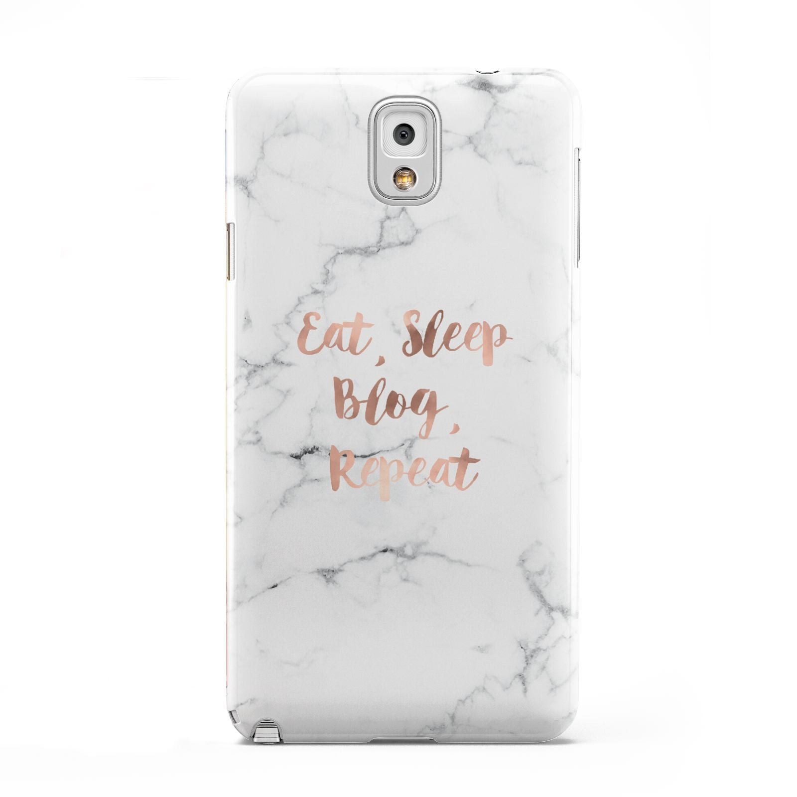 Eat Sleep Blog Repeat Marble Effect Samsung Galaxy Note 3 Case