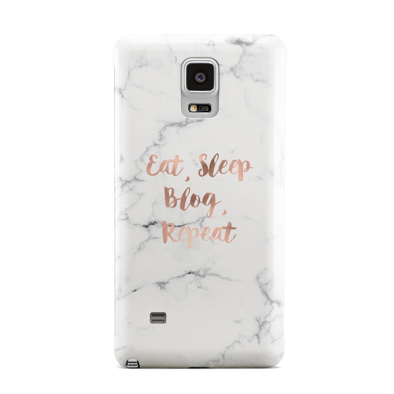 Eat Sleep Blog Repeat Marble Effect Samsung Galaxy Note 4 Case