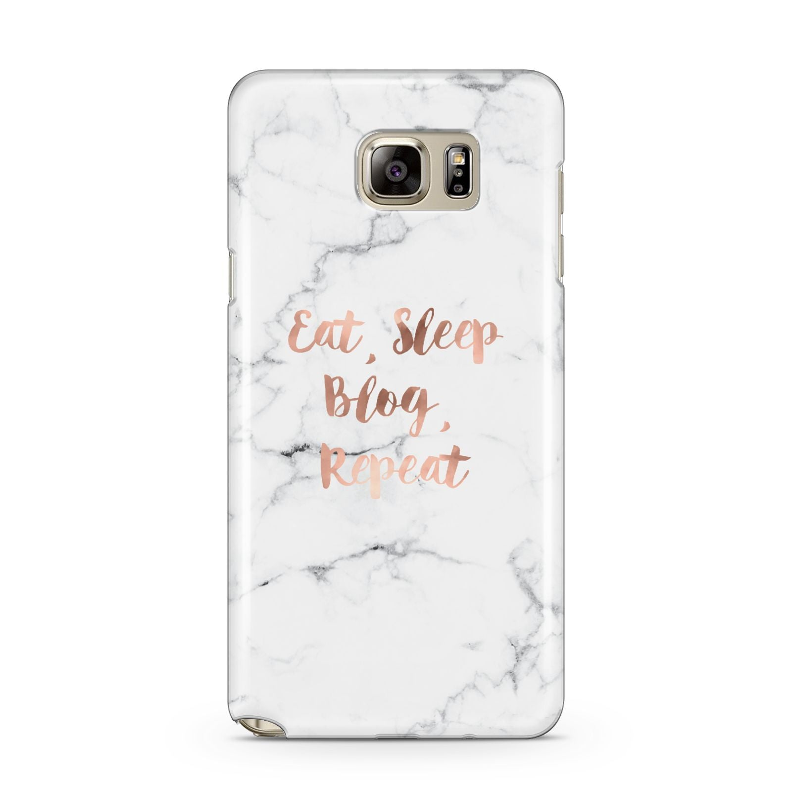 Eat Sleep Blog Repeat Marble Effect Samsung Galaxy Note 5 Case