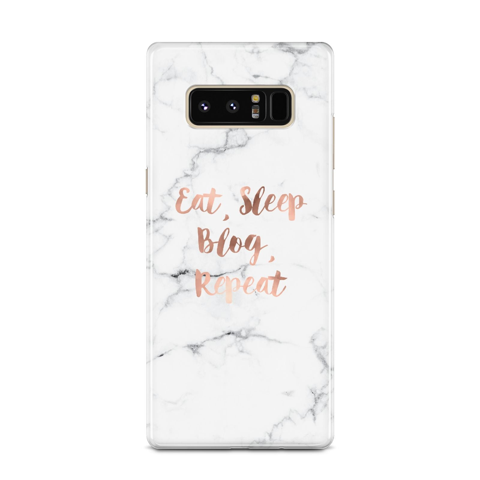 Eat Sleep Blog Repeat Marble Effect Samsung Galaxy Note 8 Case