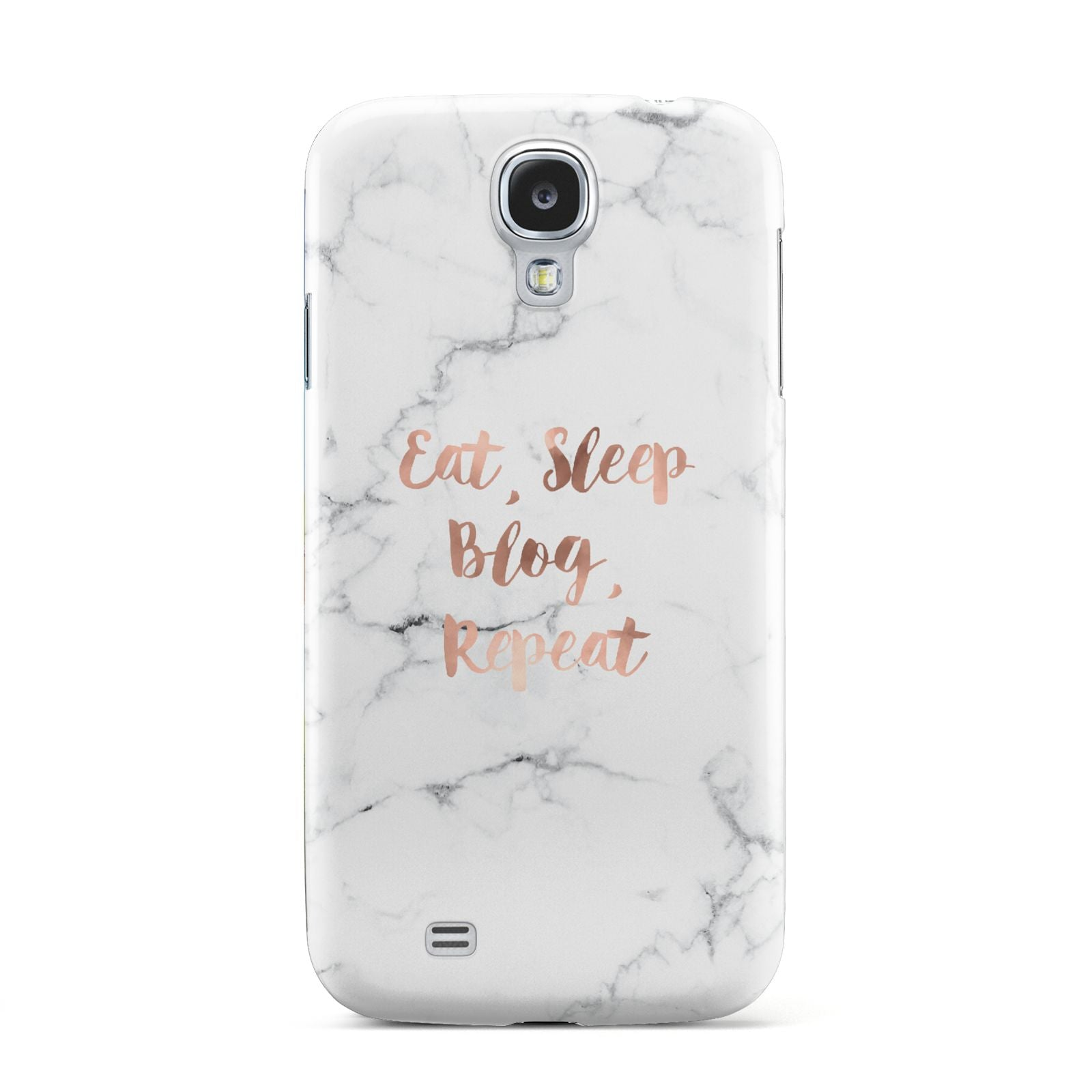Eat Sleep Blog Repeat Marble Effect Samsung Galaxy S4 Case