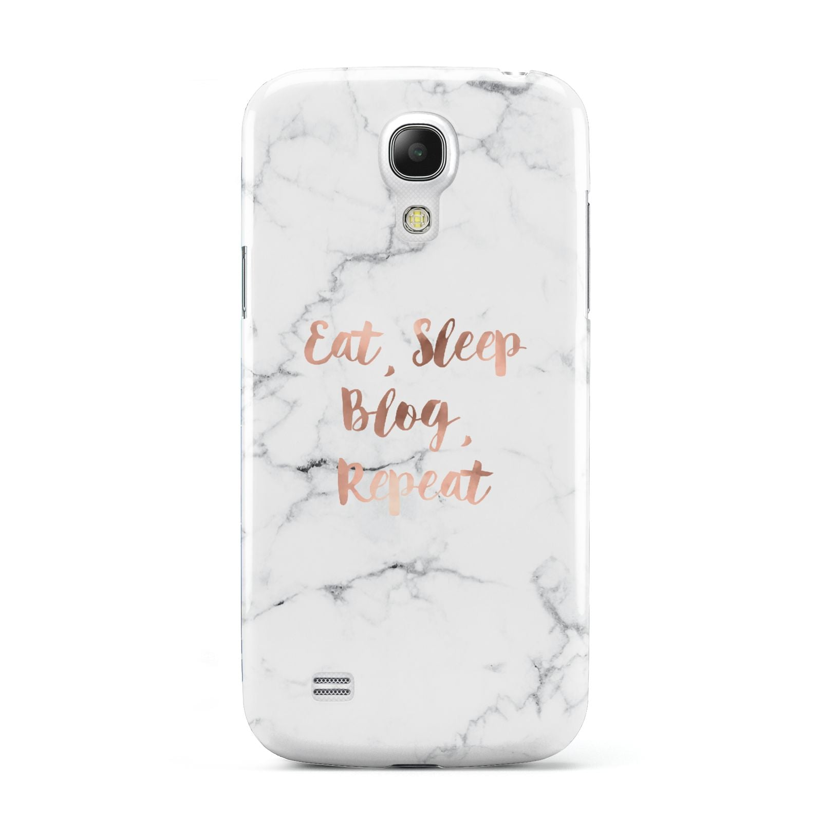 Eat Sleep Blog Repeat Marble Effect Samsung Galaxy S4 Mini Case