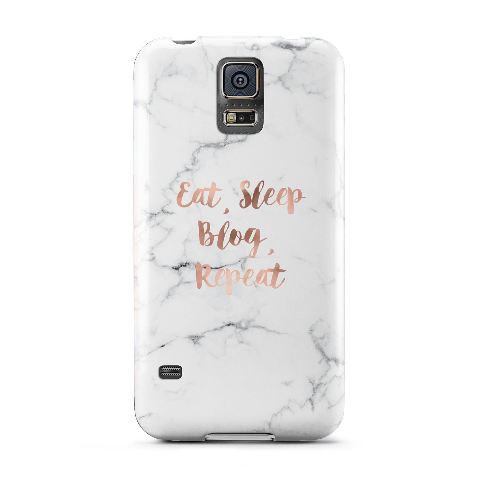 Eat Sleep Blog Repeat Marble Effect Samsung Galaxy S5 Case