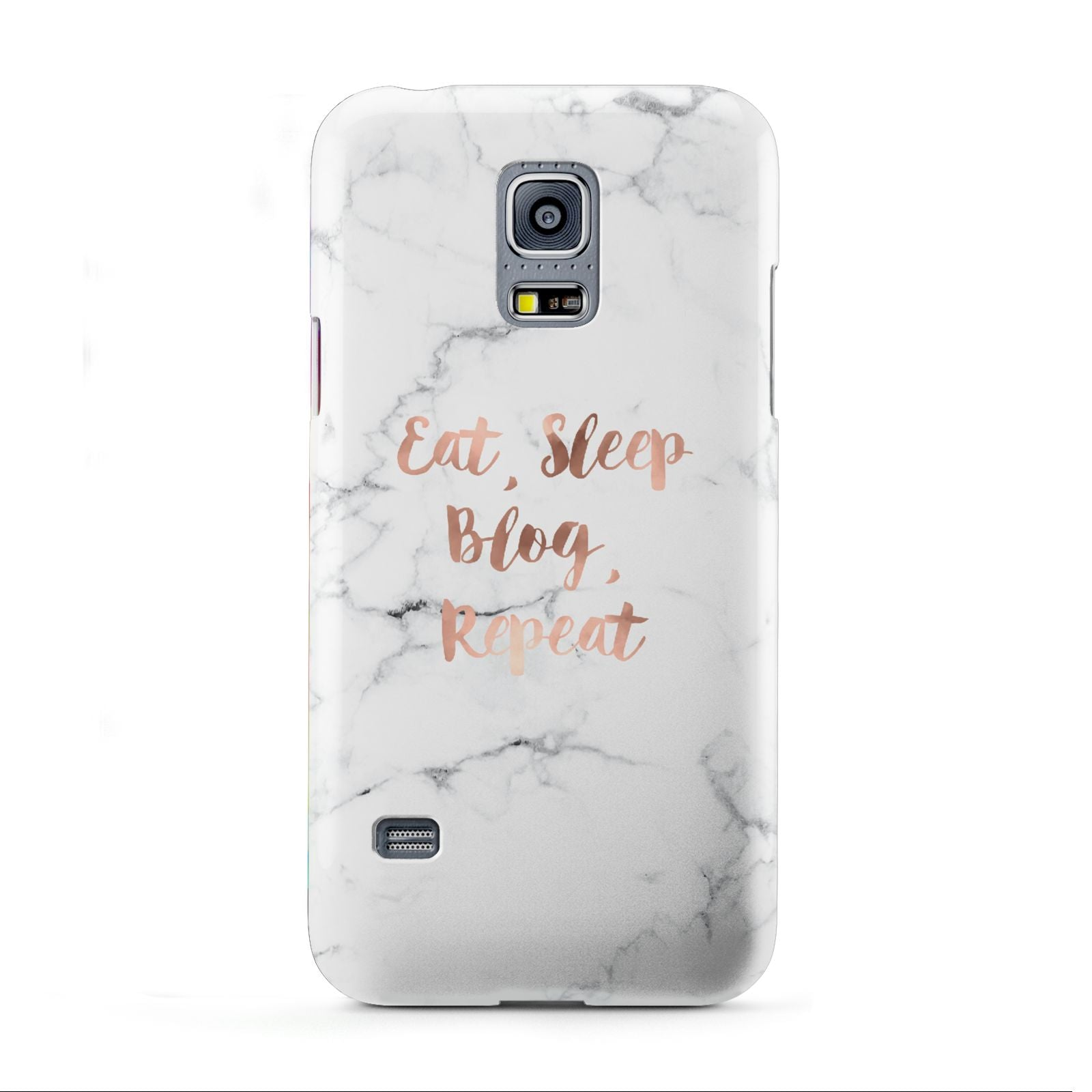 Eat Sleep Blog Repeat Marble Effect Samsung Galaxy S5 Mini Case