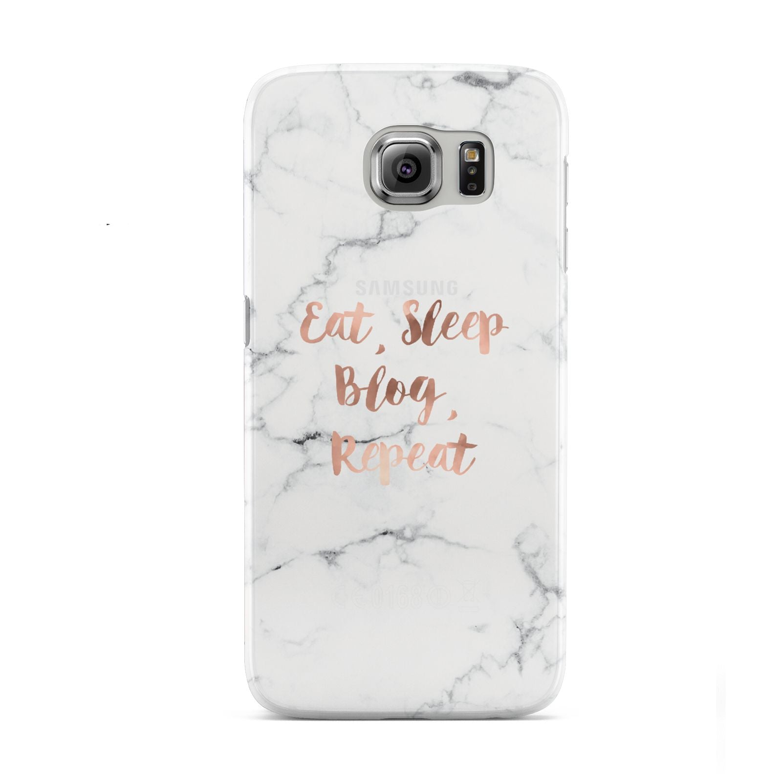 Eat Sleep Blog Repeat Marble Effect Samsung Galaxy S6 Case