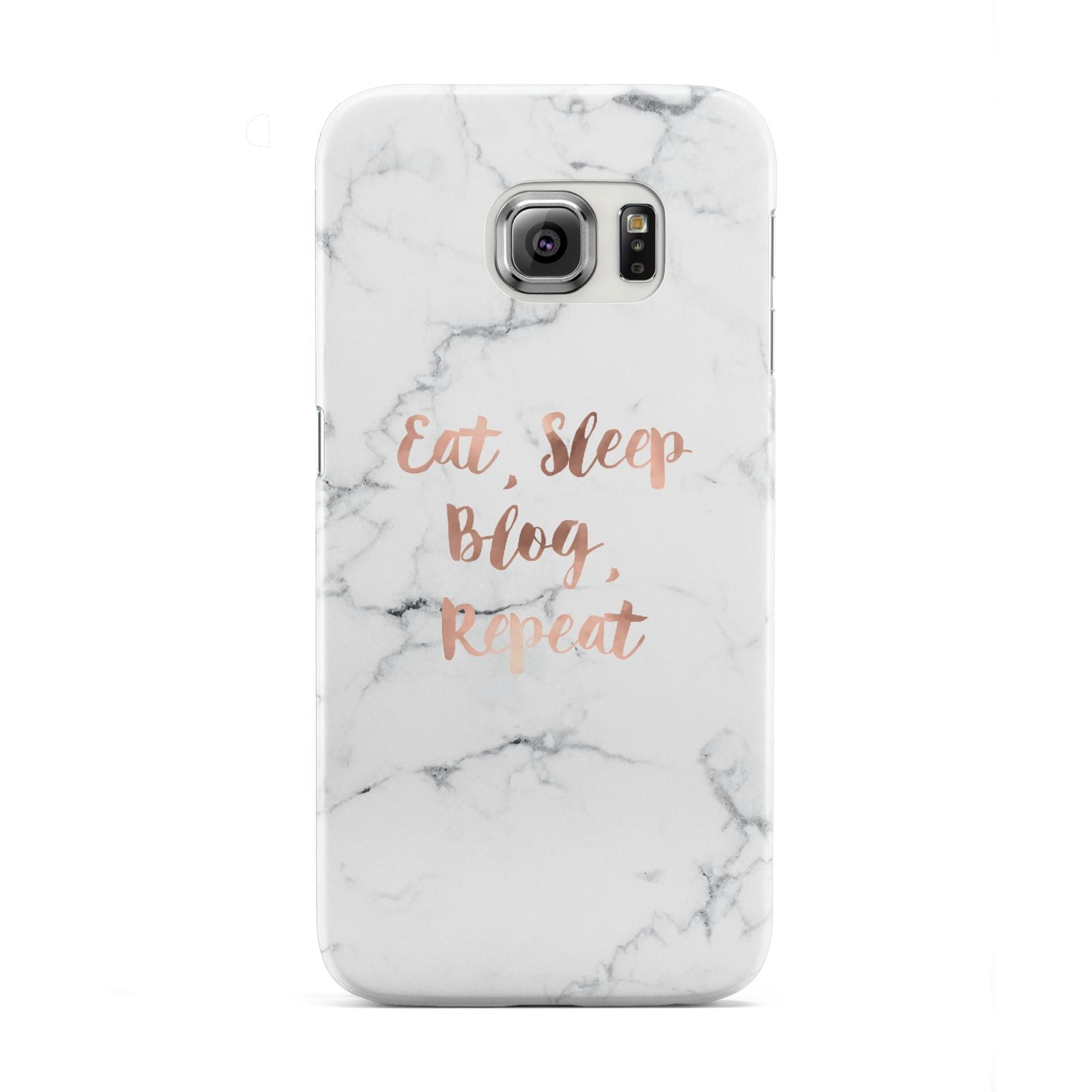 Eat Sleep Blog Repeat Marble Effect Samsung Galaxy S6 Edge Case