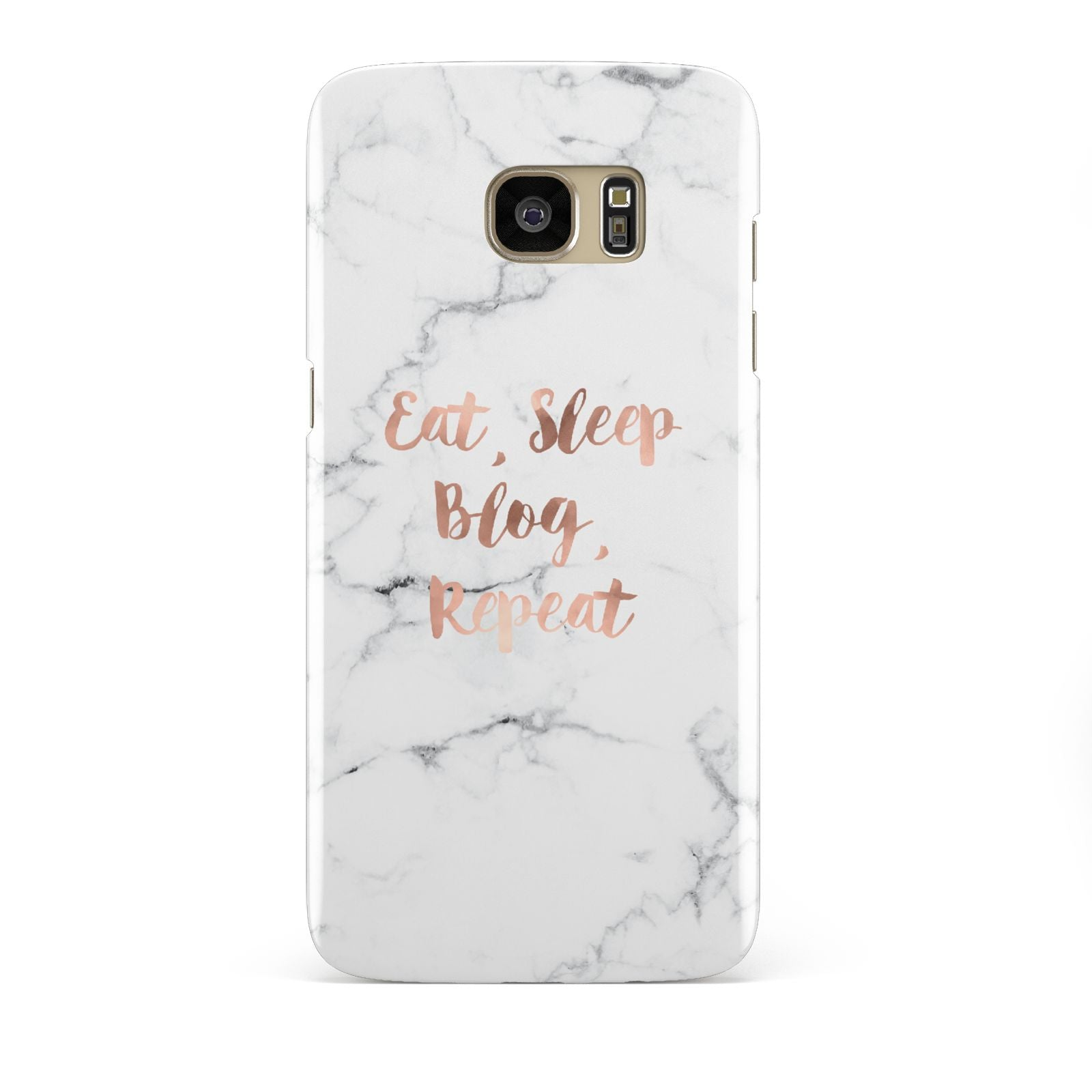 Eat Sleep Blog Repeat Marble Effect Samsung Galaxy S7 Edge Case