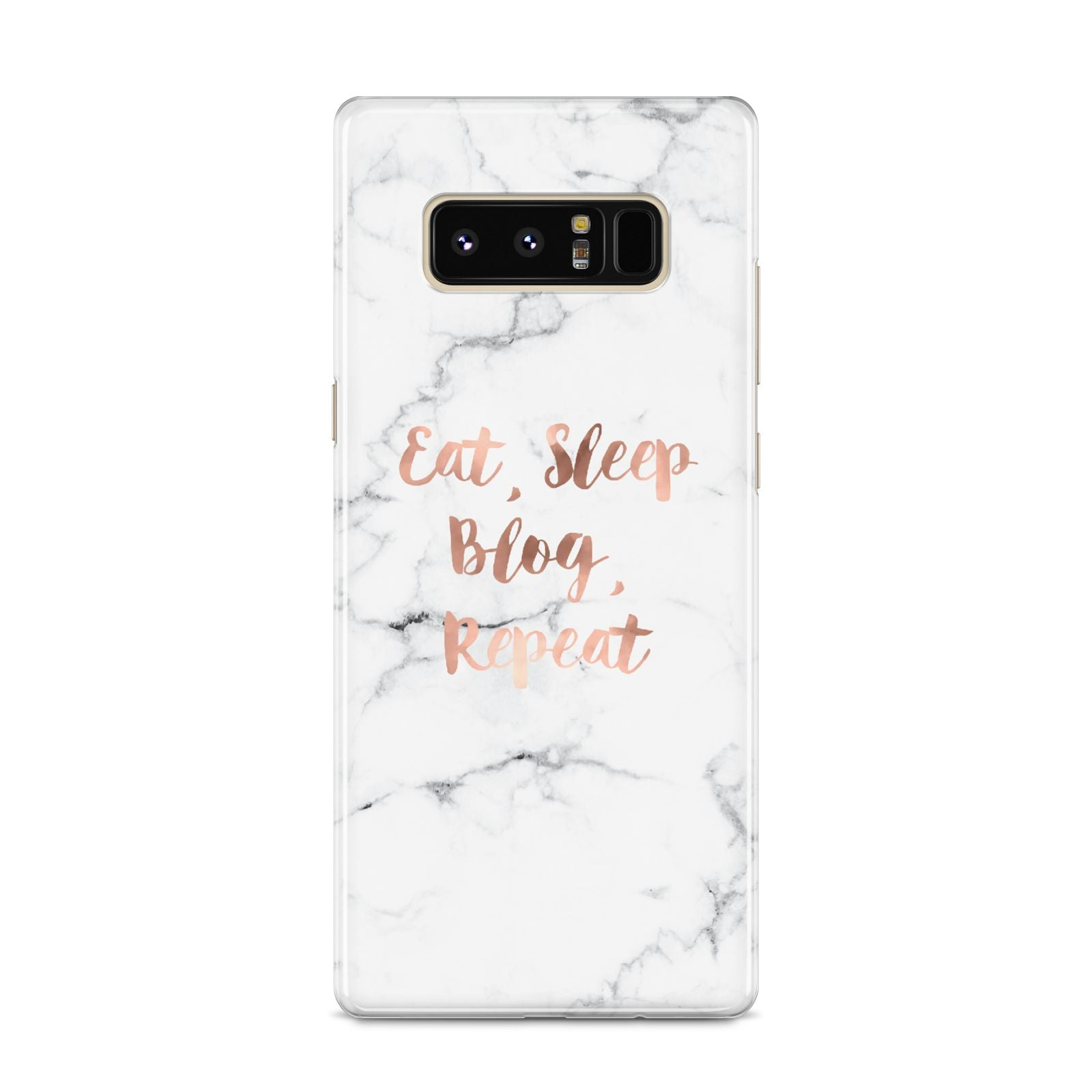 Eat Sleep Blog Repeat Marble Effect Samsung Galaxy S8 Case