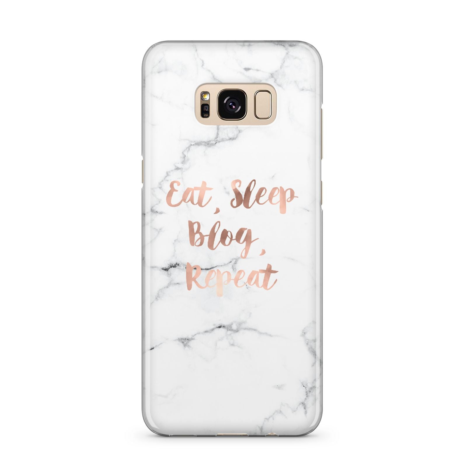 Eat Sleep Blog Repeat Marble Effect Samsung Galaxy S8 Plus Case