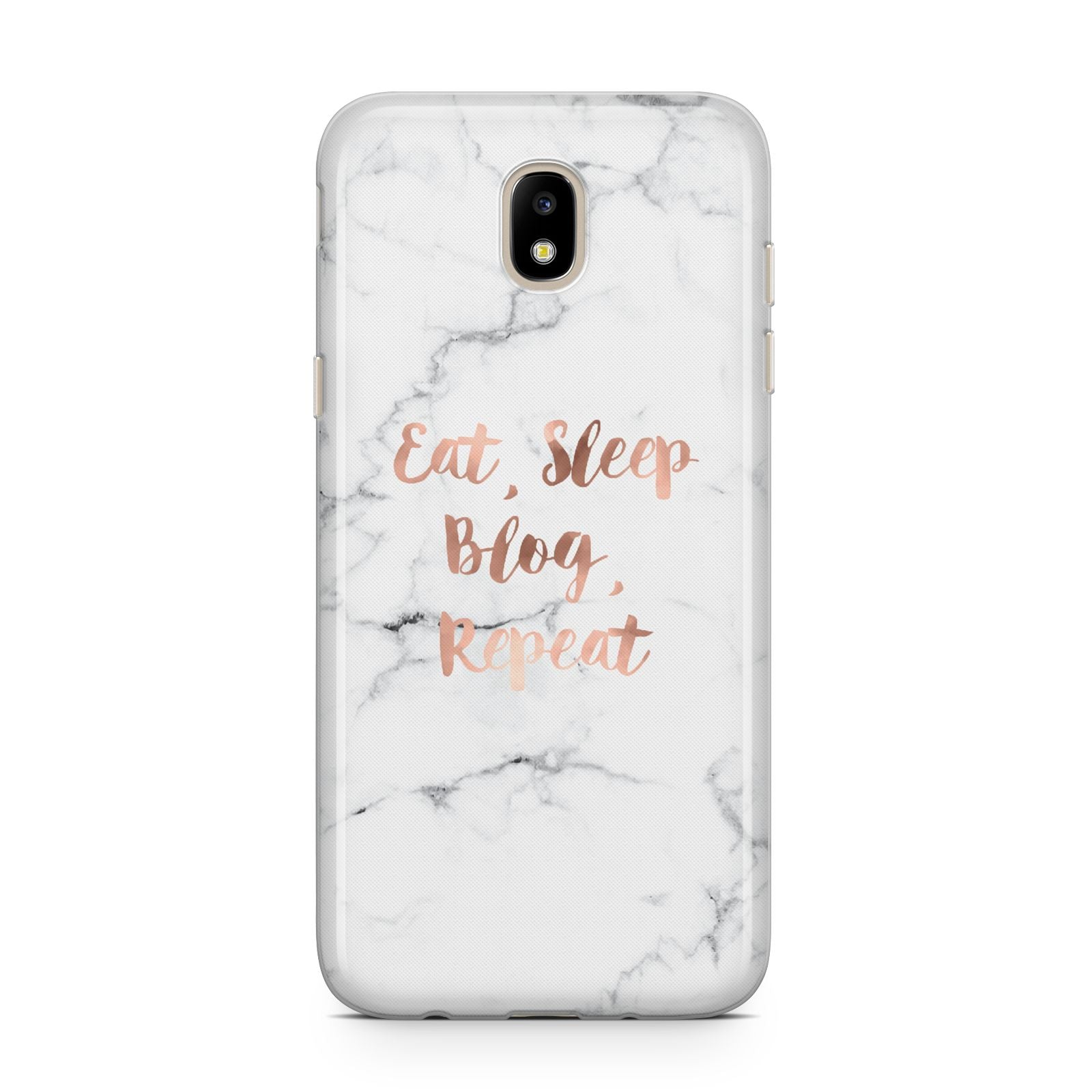 Eat Sleep Blog Repeat Marble Effect Samsung J5 2017 Case
