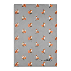 FOX TEA TOWEL PERSONALISED