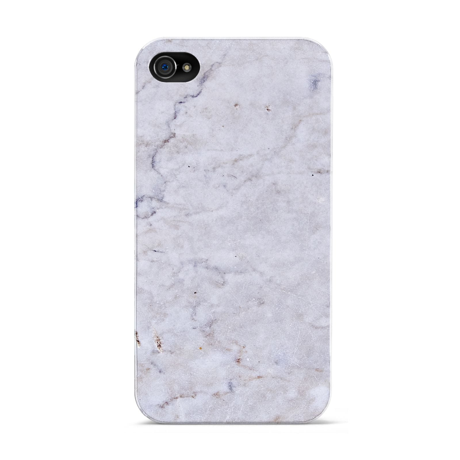 Faux Carrara Marble Print Grey Apple iPhone 4s Case