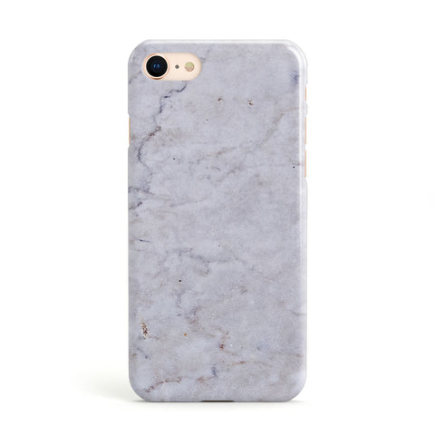 Faux Carrara Marble Print Grey Apple iPhone Case