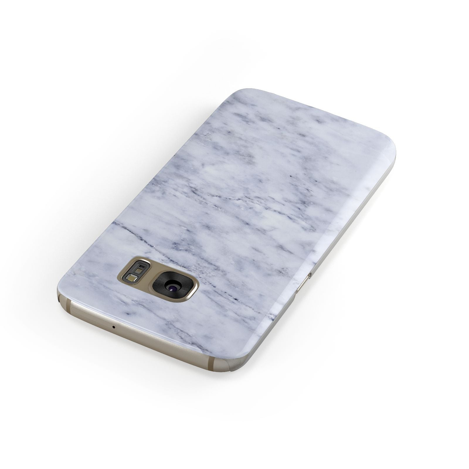 Faux Carrara Marble Print Samsung Galaxy Case Front Close Up