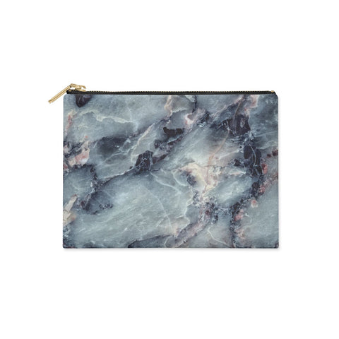 Faux Marble Blue Grey clutch bag Clutch Bag Case
