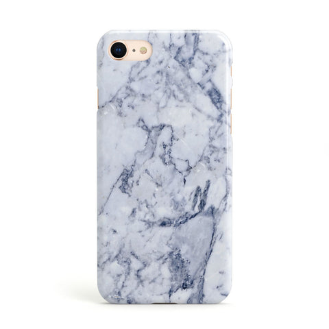 Faux Marble Blue Grey White Apple iPhone Case