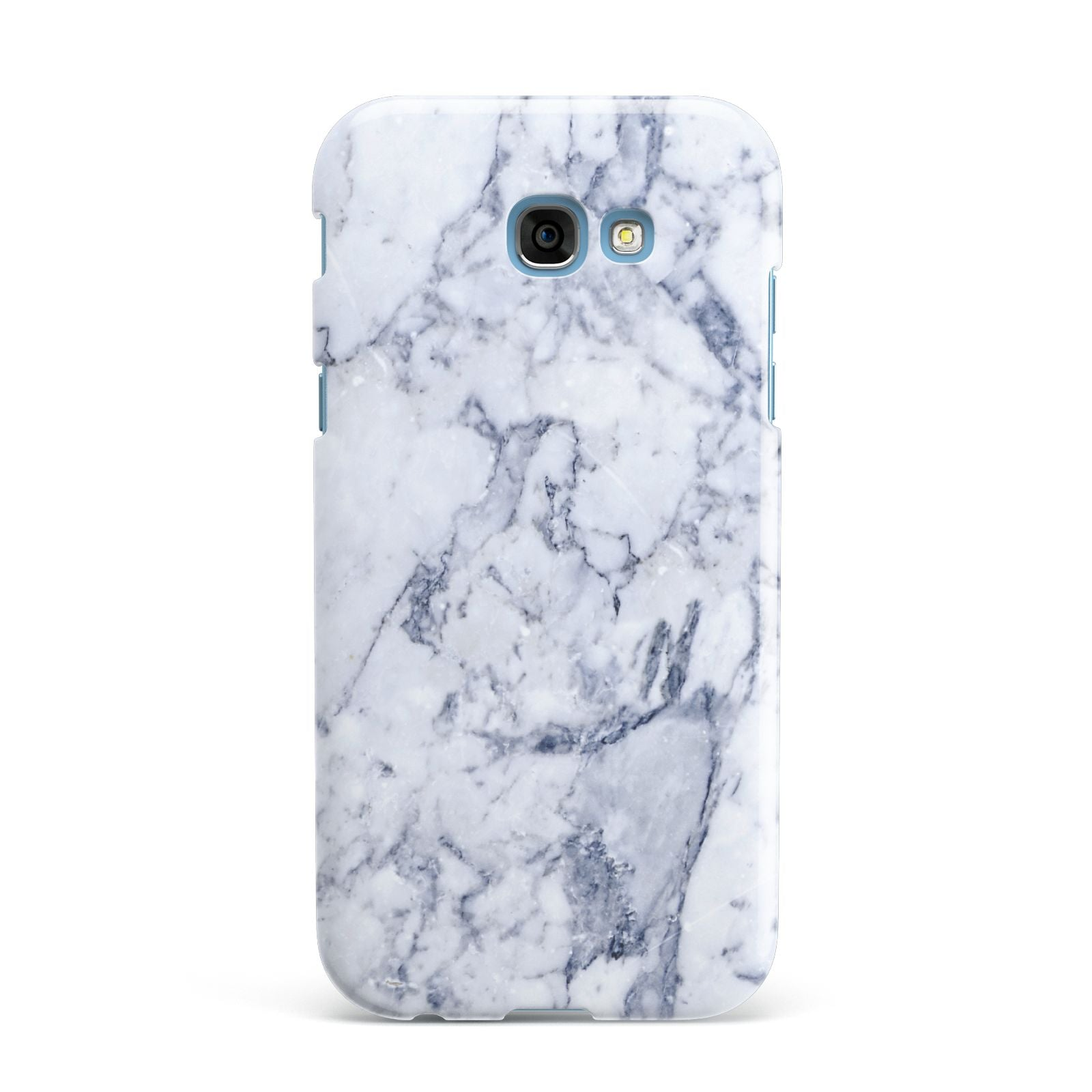 Faux Marble Blue Grey White Samsung Galaxy A7 2017 Case