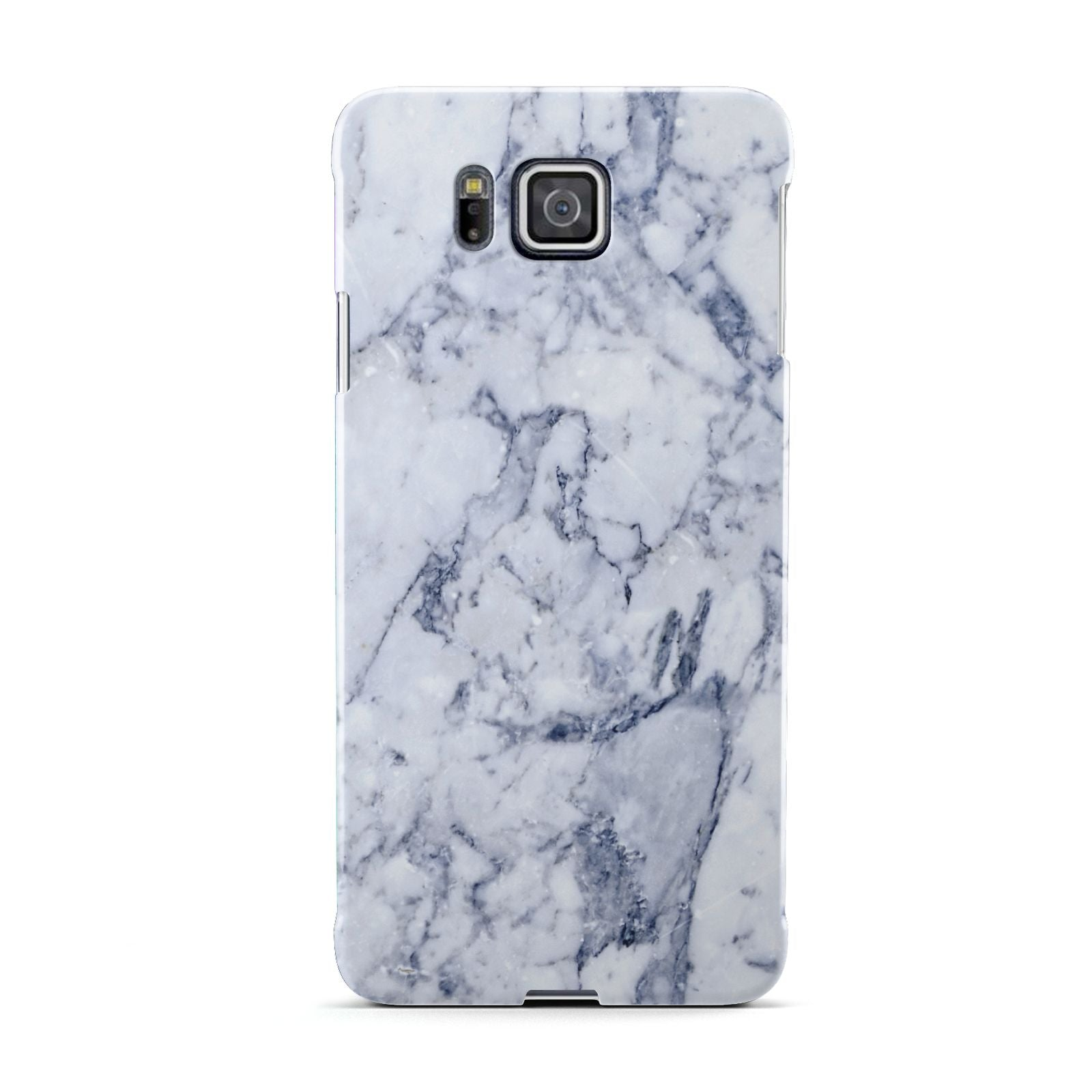 Faux Marble Blue Grey White Samsung Galaxy Alpha Case