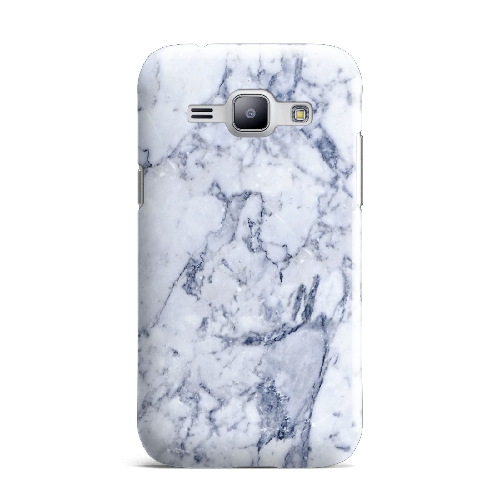 Faux Marble Blue Grey White Samsung Galaxy J1 2015 Case