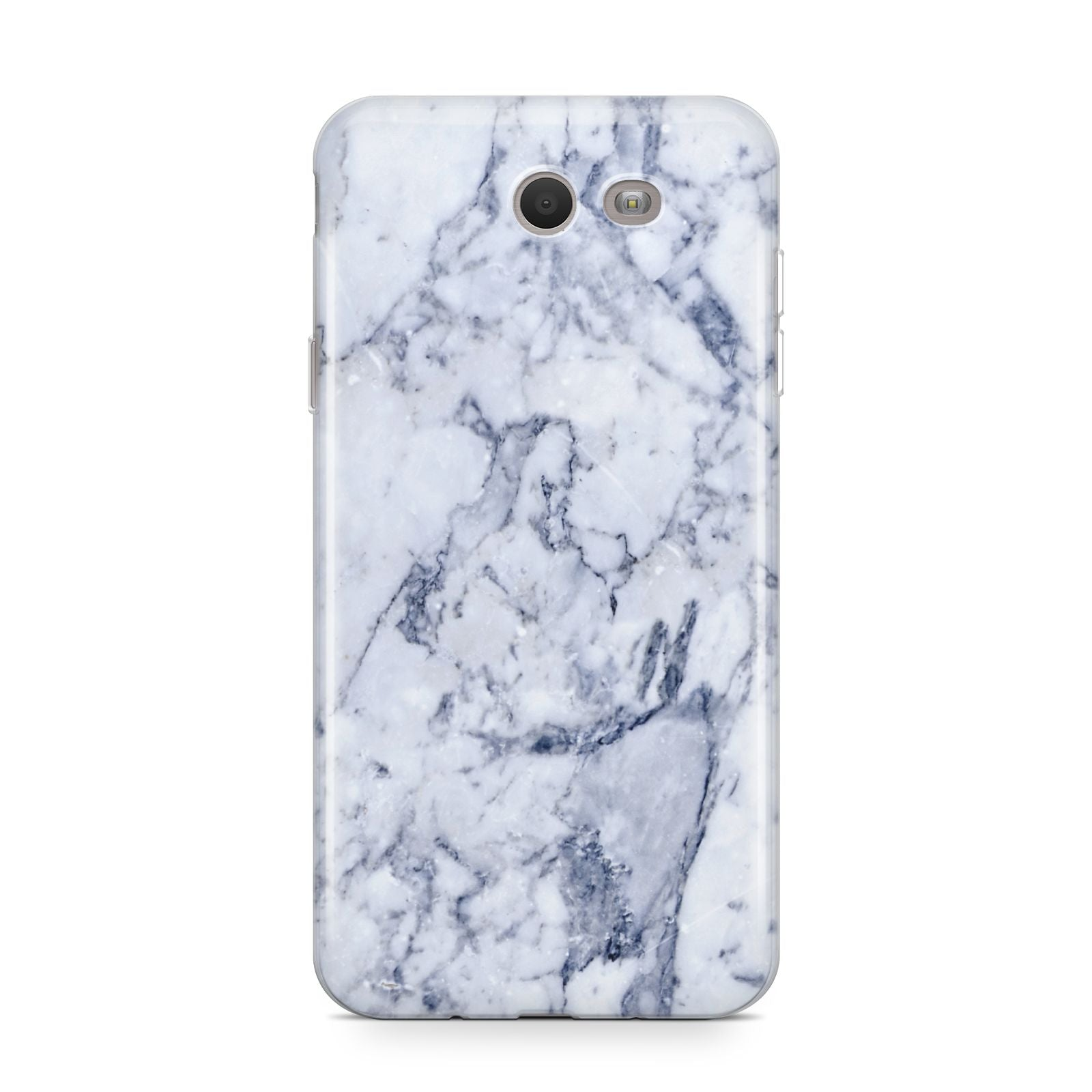 Faux Marble Blue Grey White Samsung Galaxy J7 2017 Case