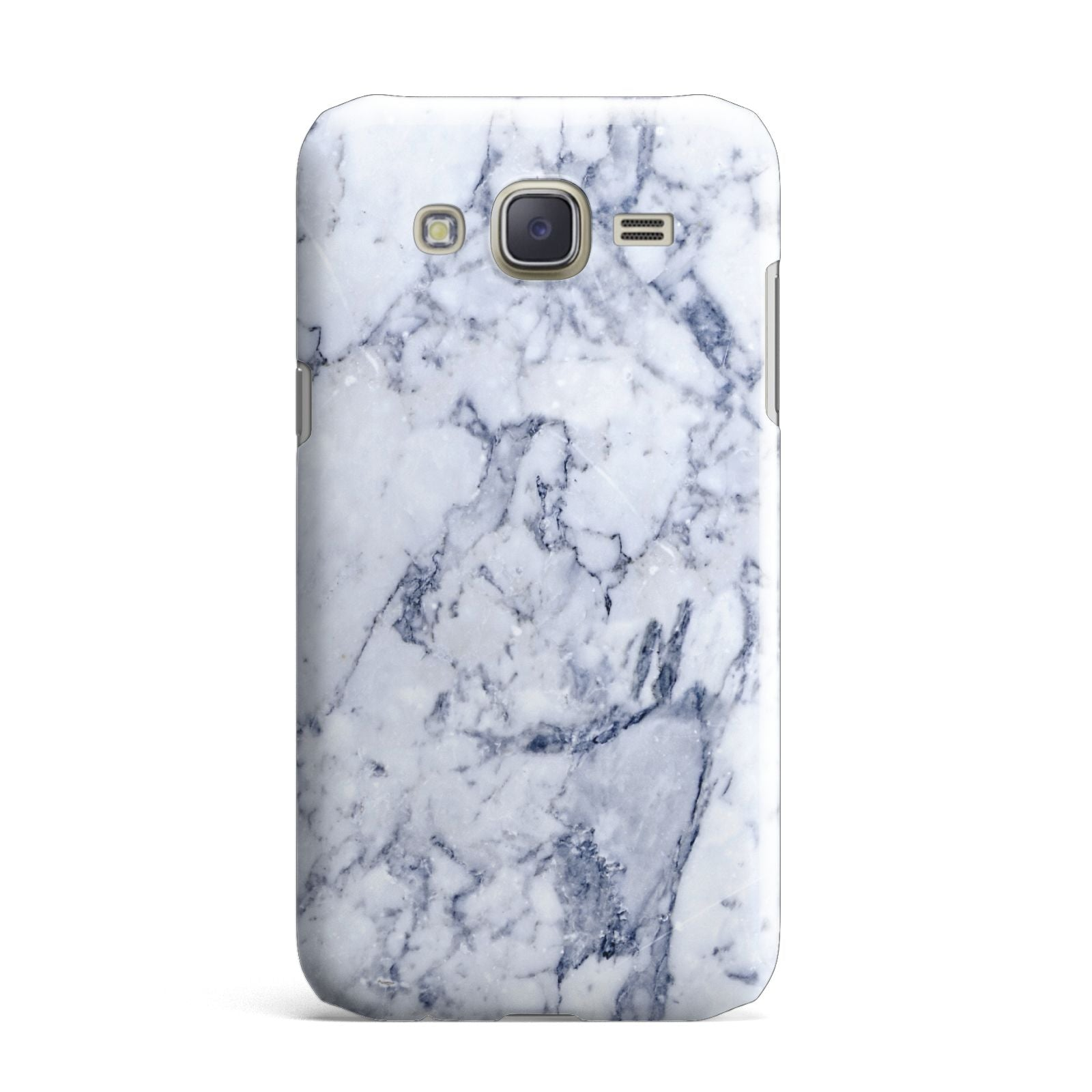 Faux Marble Blue Grey White Samsung Galaxy J7 Case