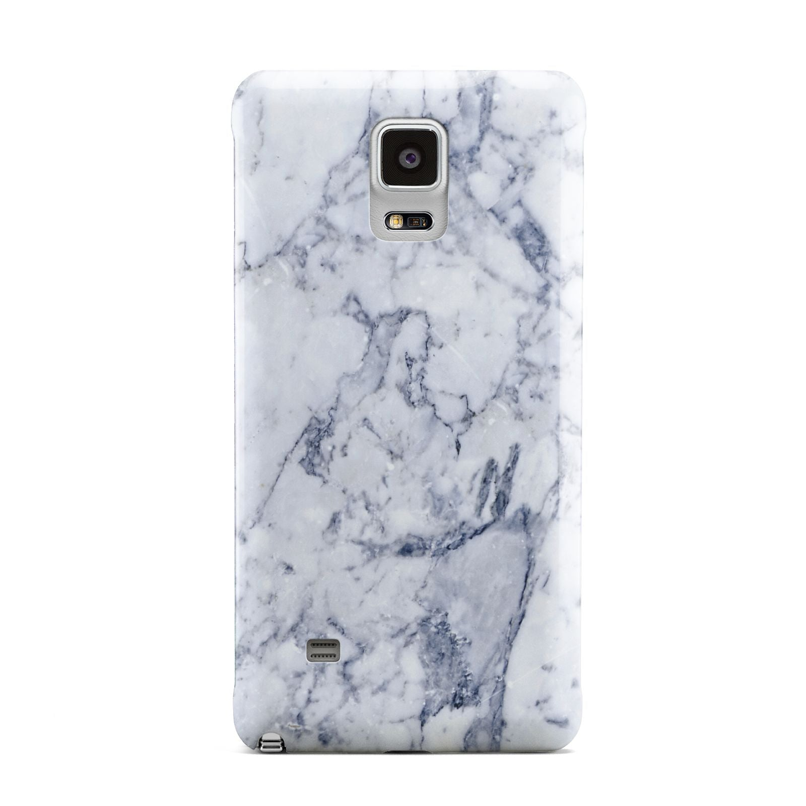 Faux Marble Blue Grey White Samsung Galaxy Note 4 Case