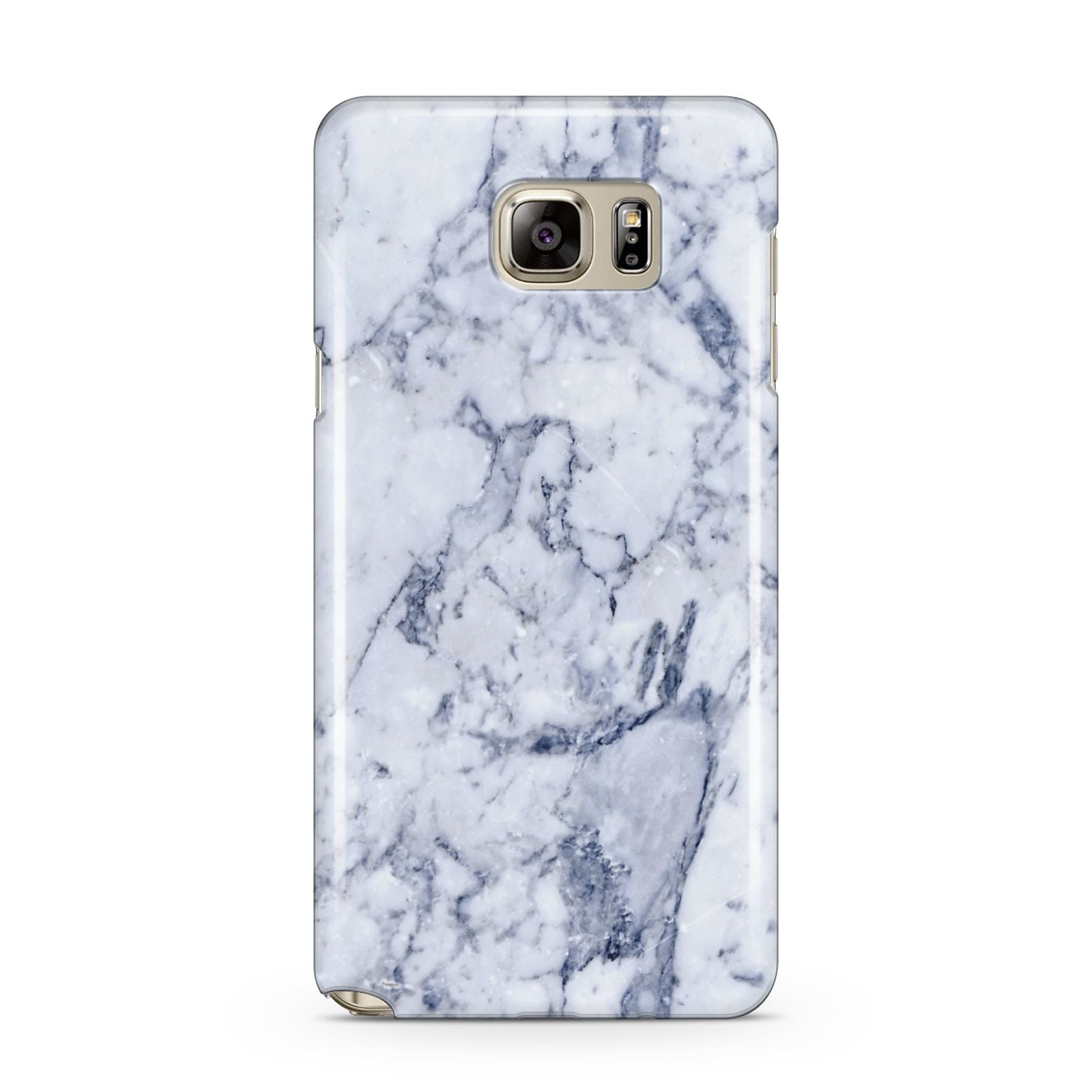 Faux Marble Blue Grey White Samsung Galaxy Note 5 Case