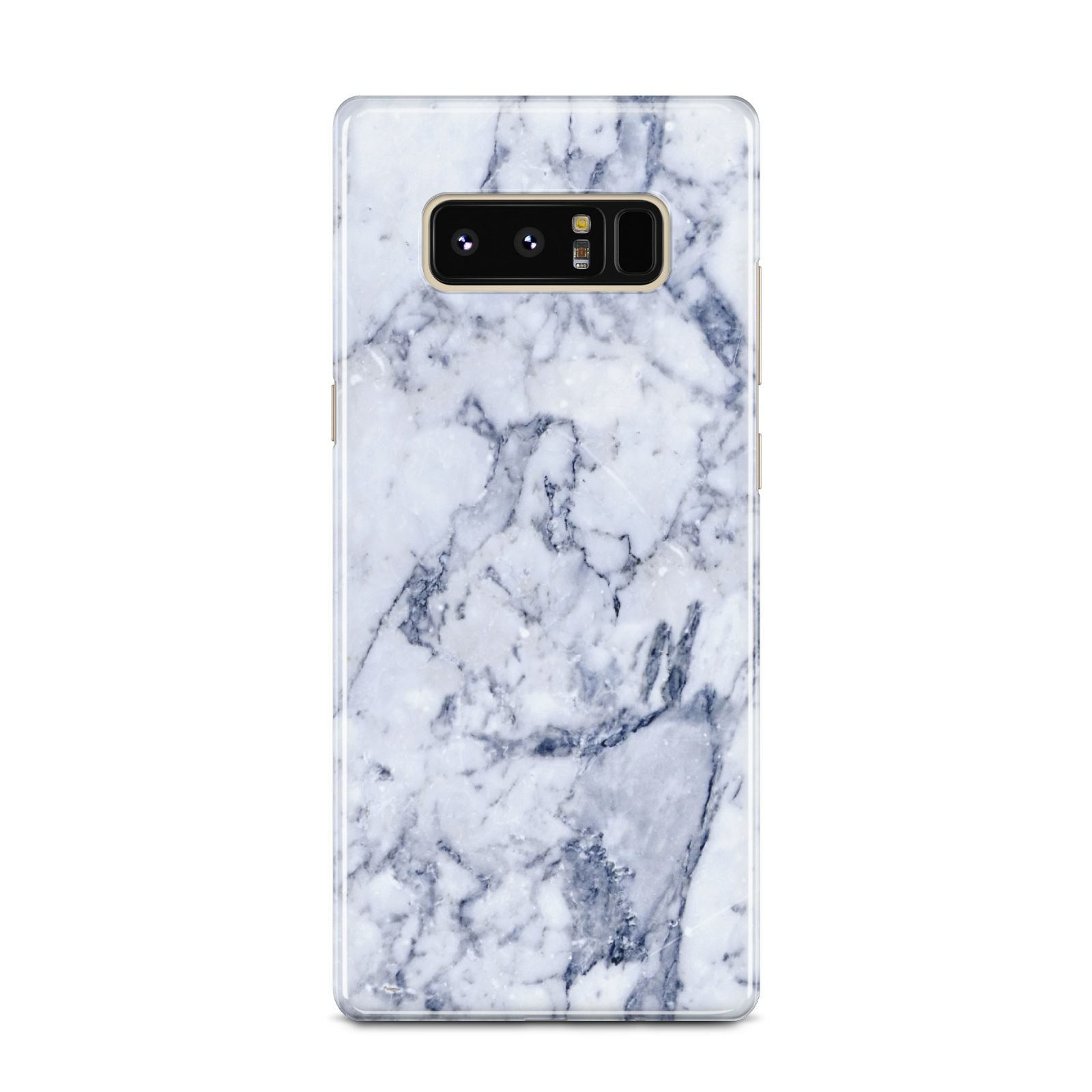 Faux Marble Blue Grey White Samsung Galaxy Note 8 Case