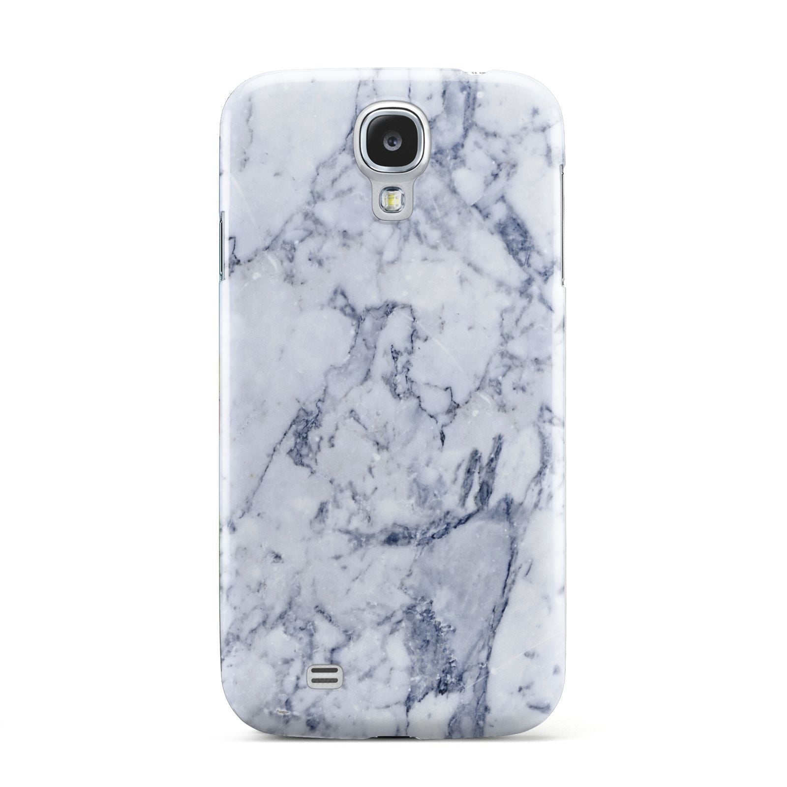 Faux Marble Blue Grey White Samsung Galaxy S4 Case